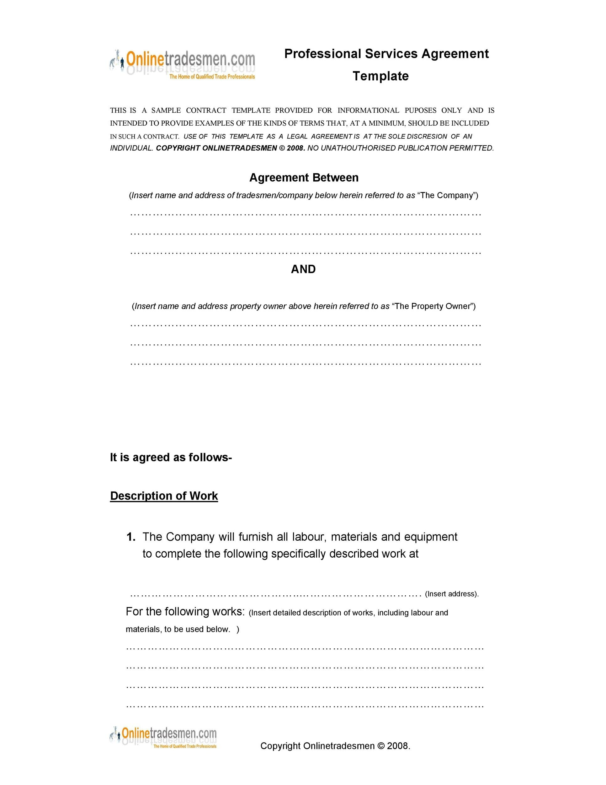 Free Service Agreement Template 24