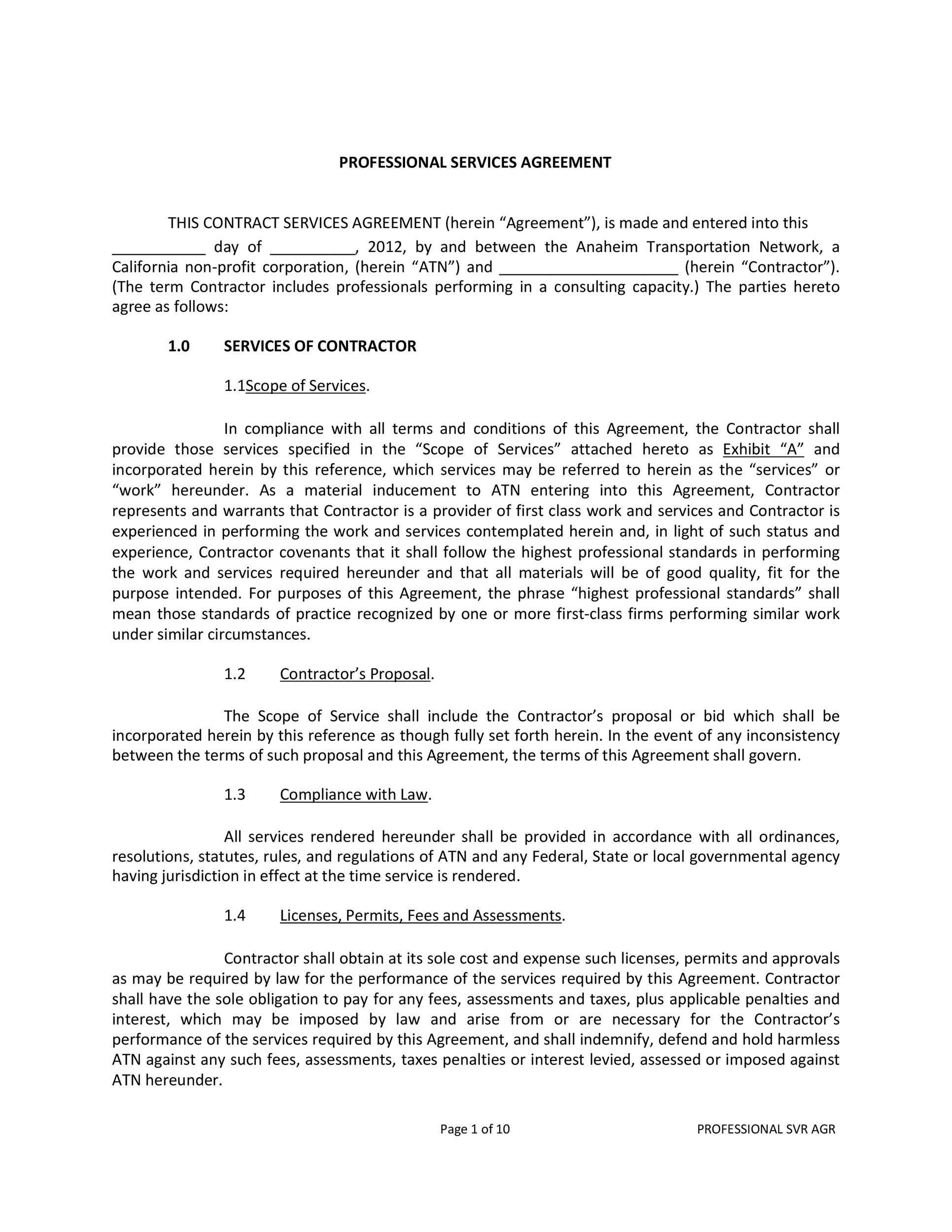 Free Service Agreement Template 26