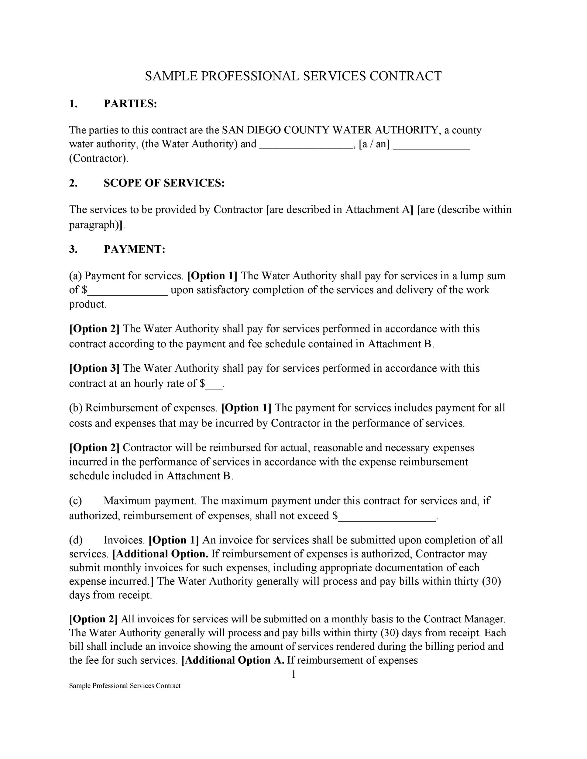 Free Service Agreement Template 27