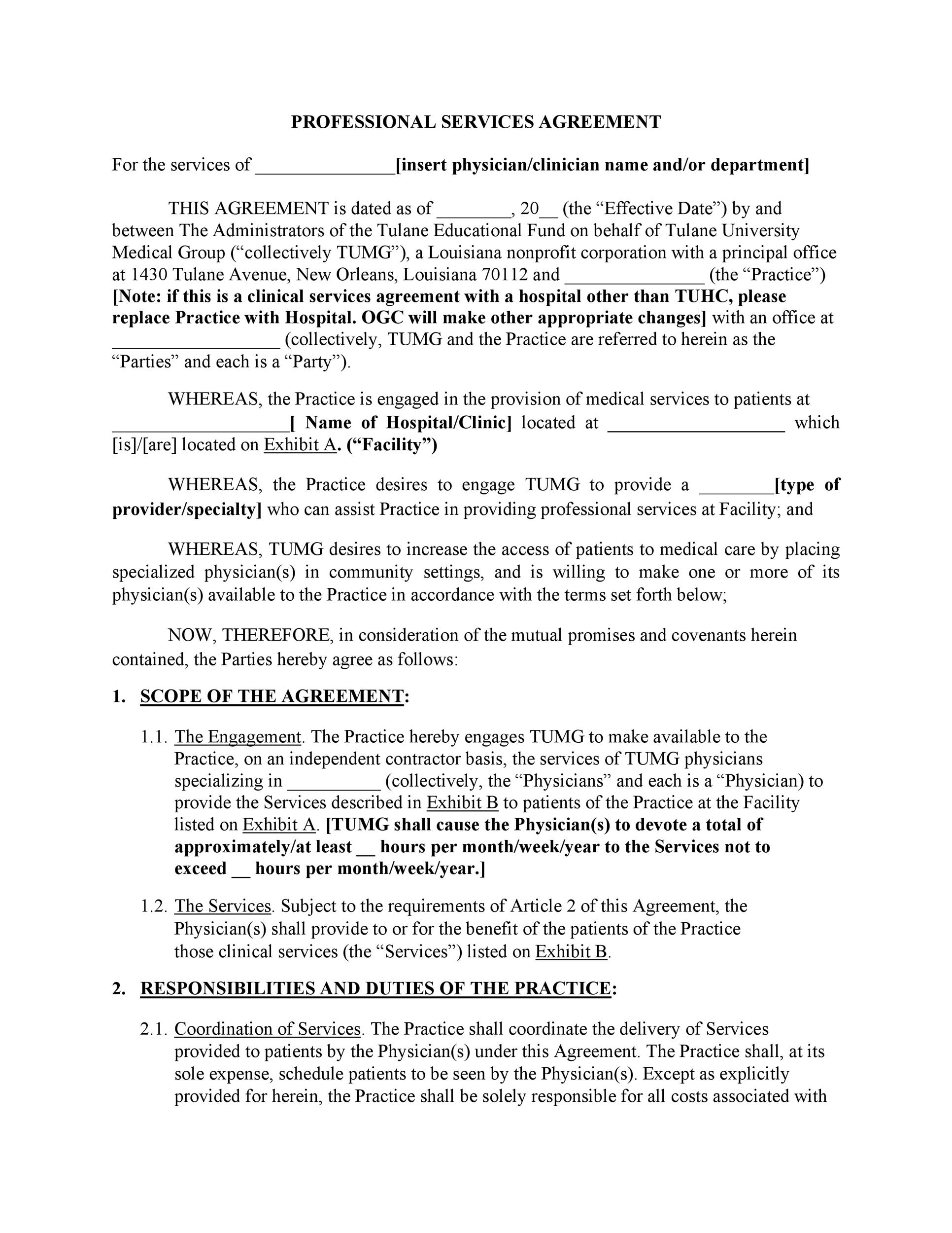 Free Service Agreement Template 30