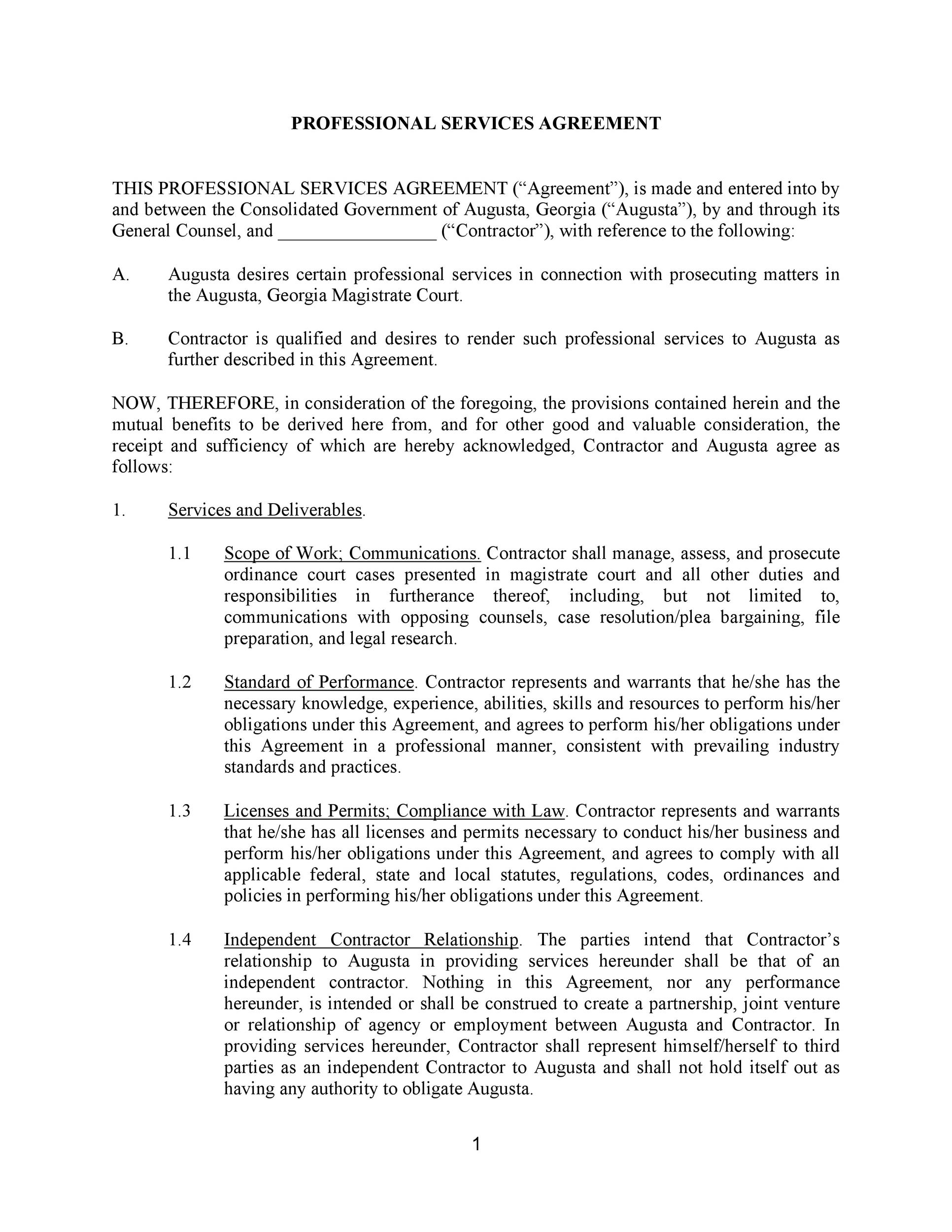 Free Service Agreement Template 33