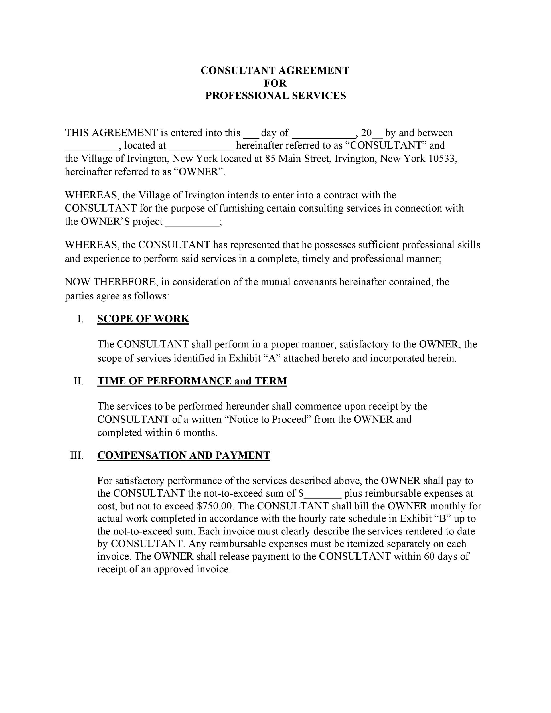 Free Service Agreement Template 37