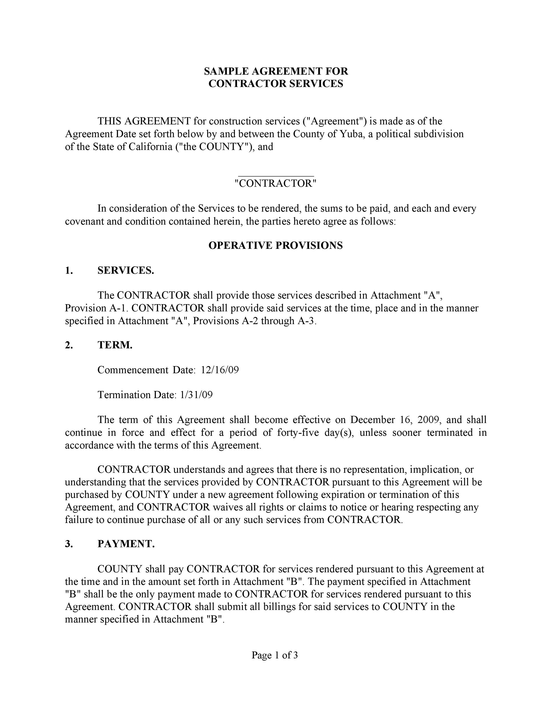 Free Service Agreement Template 40