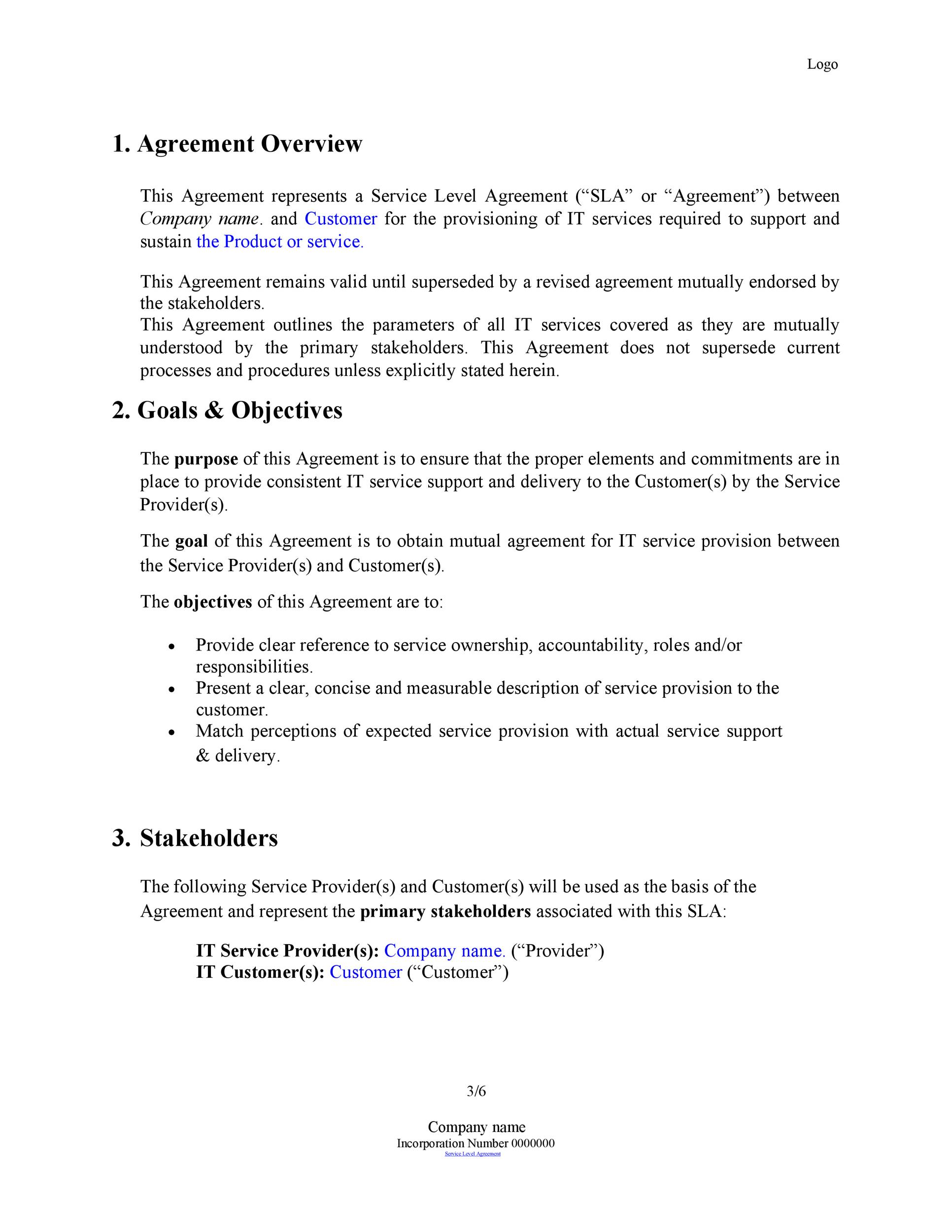 free service agreement template 43