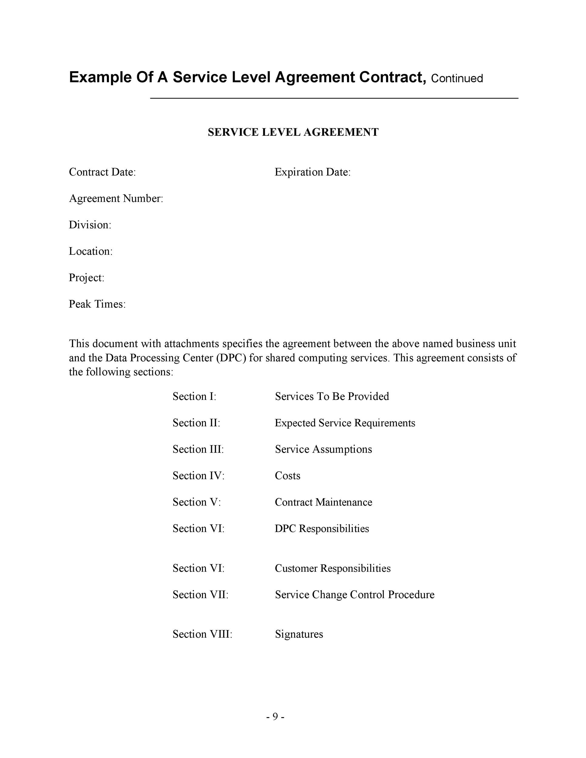 Free Service Agreement Template 49  Free Service Agreement Template
