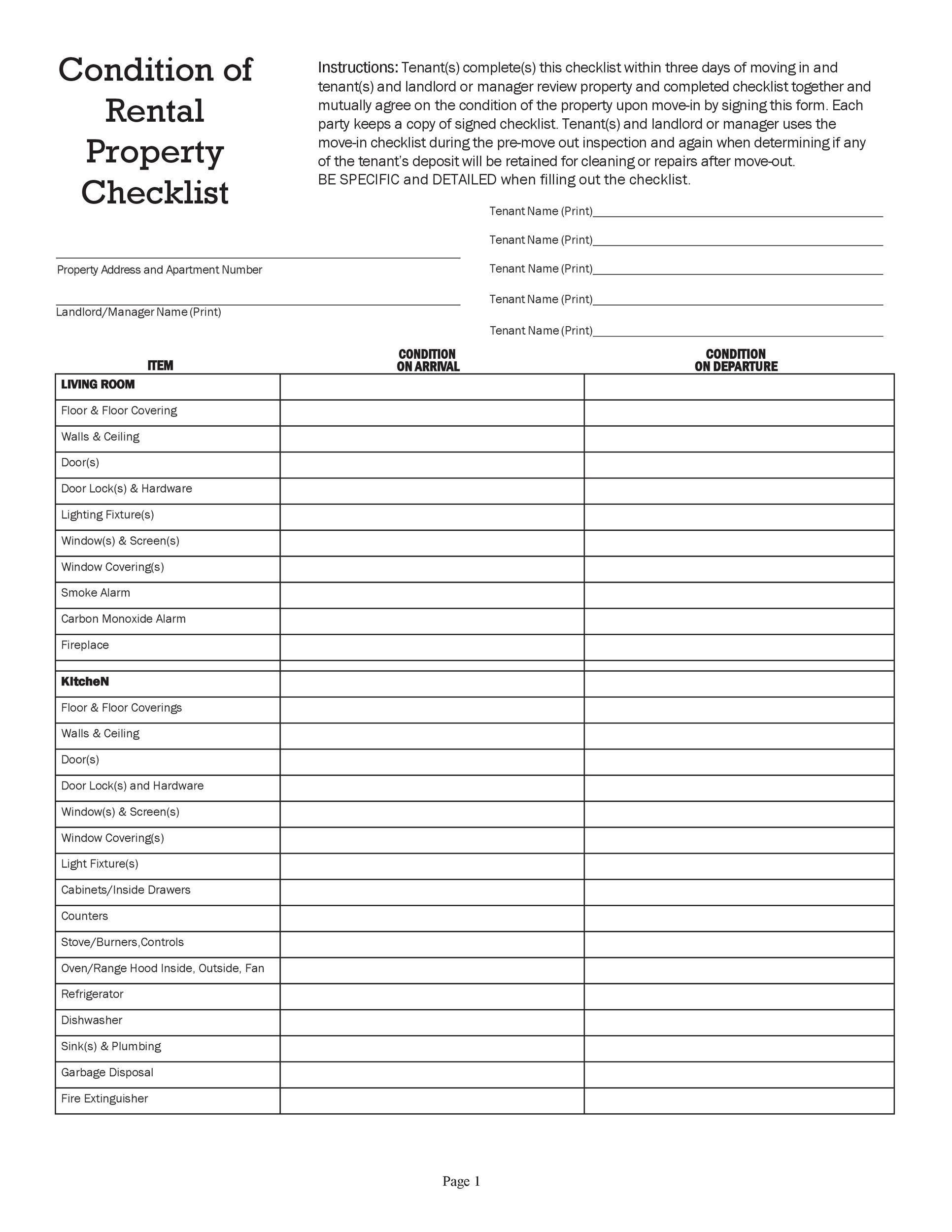 Free apartment checklist 03
