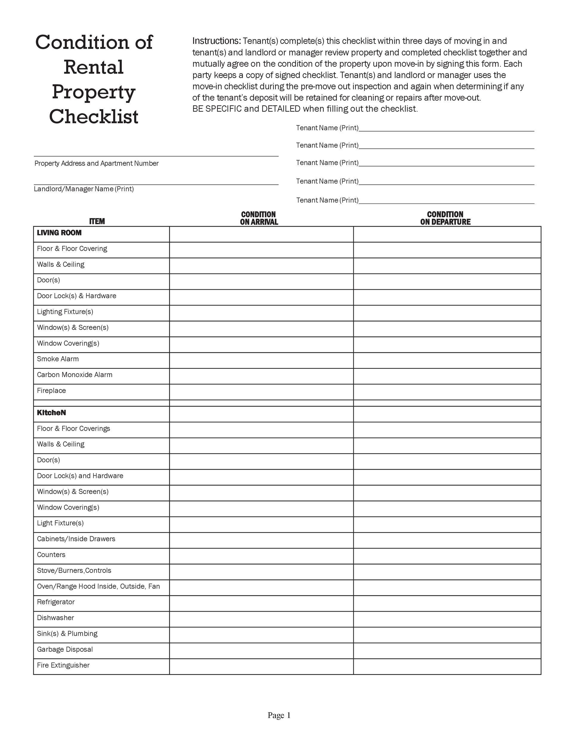 Free apartment checklist 03