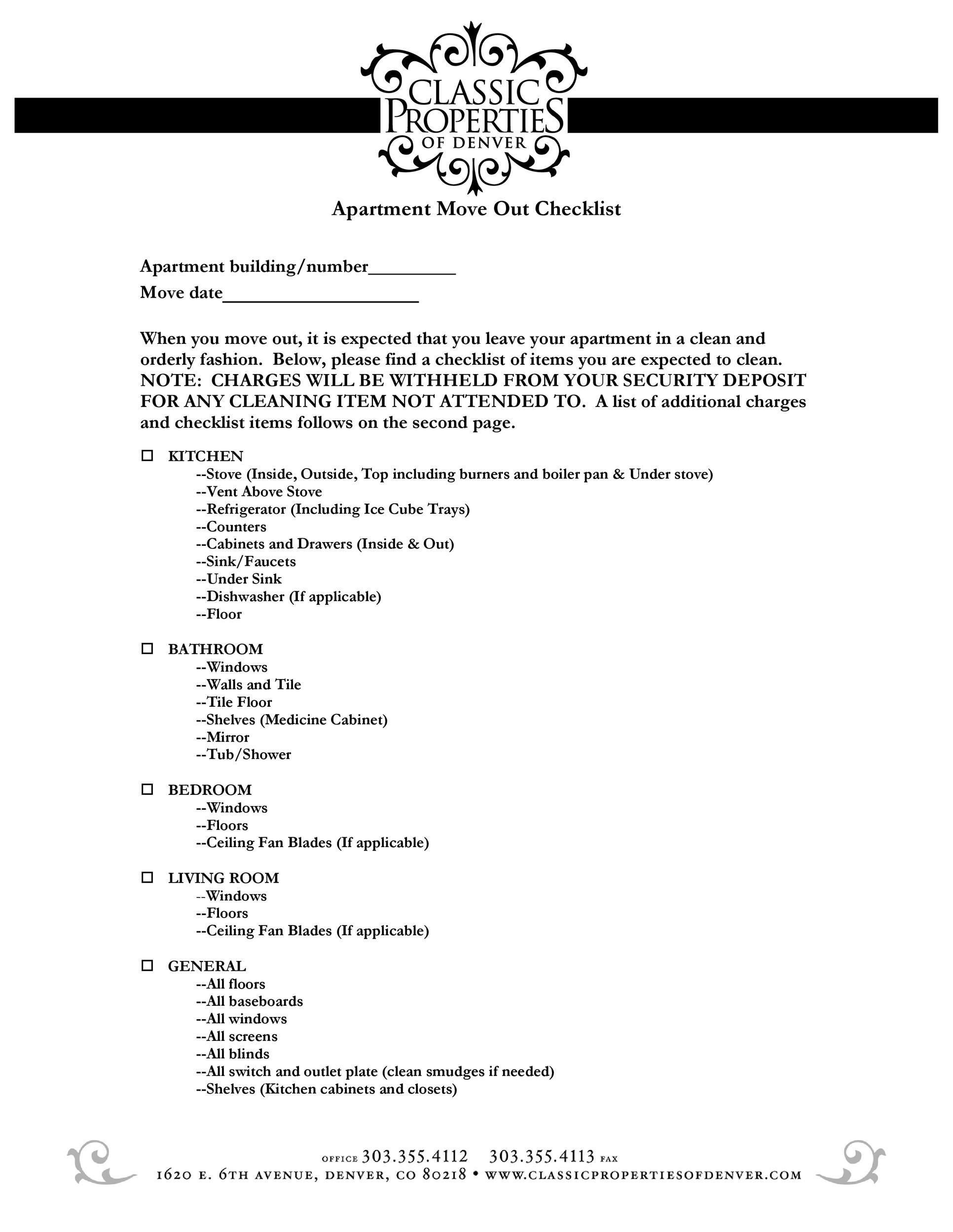 apartment moving checklist - Targer.golden-dragon.co