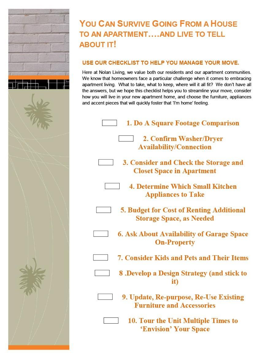 Free apartment checklist 15