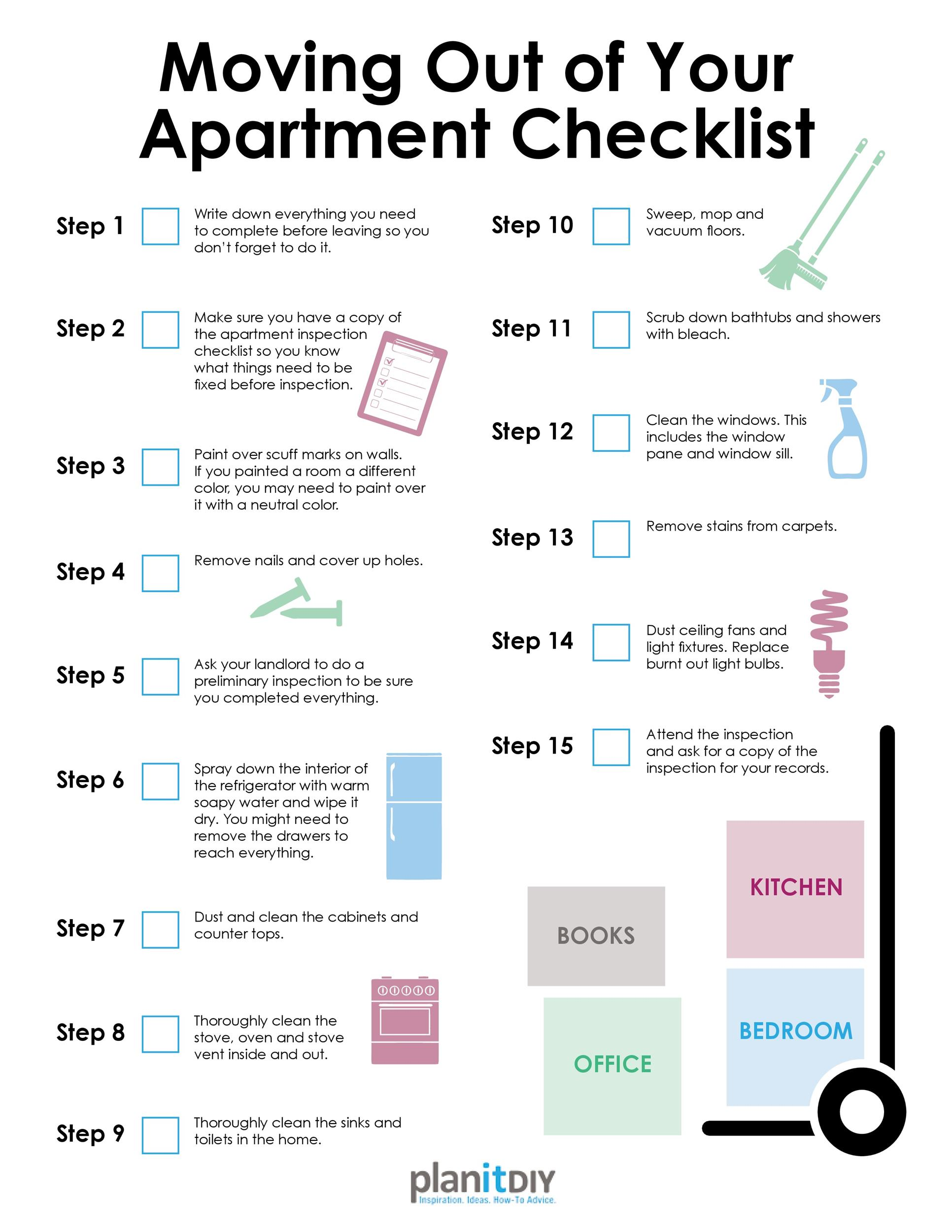 first new apartment checklist 40 essential templates