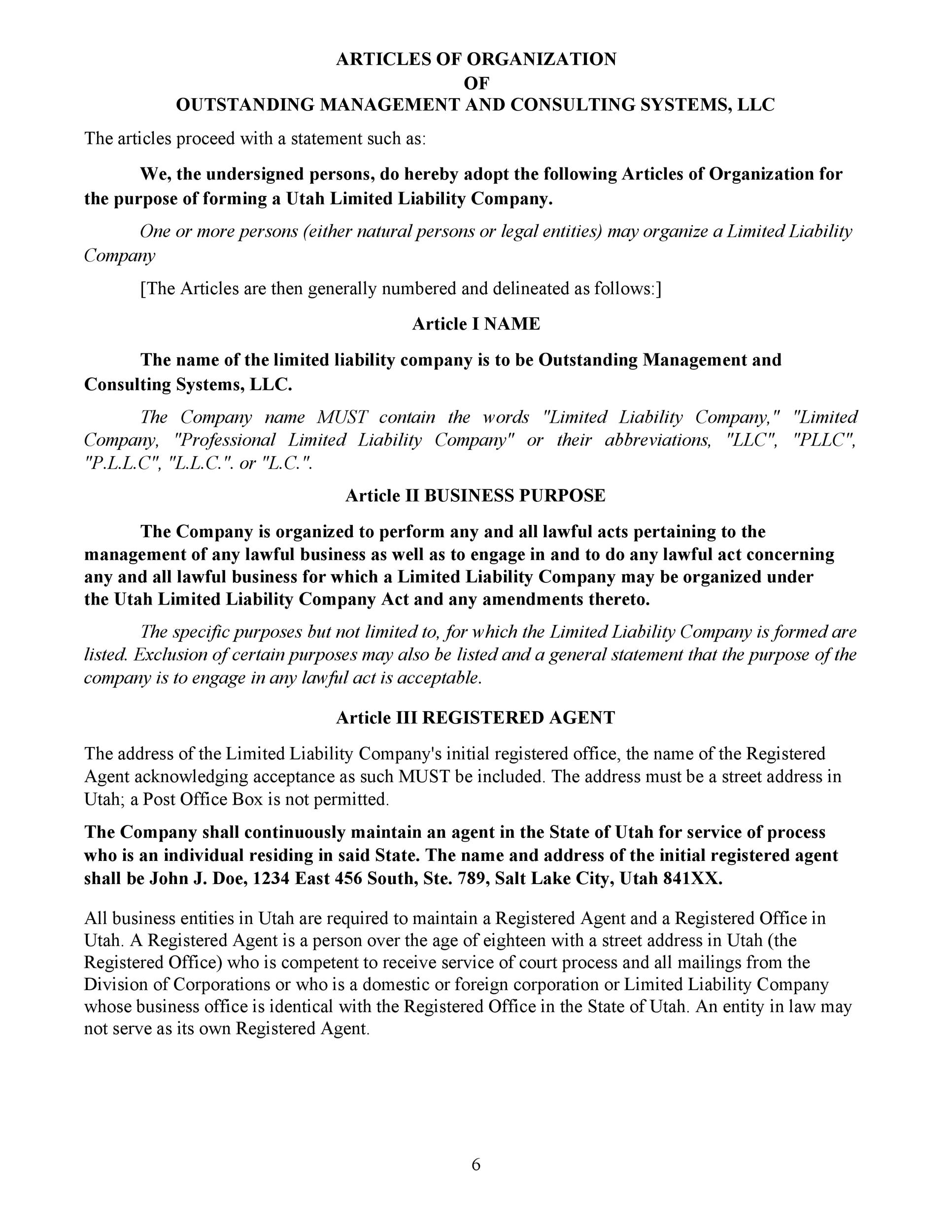 Free articles of incorporation template 35