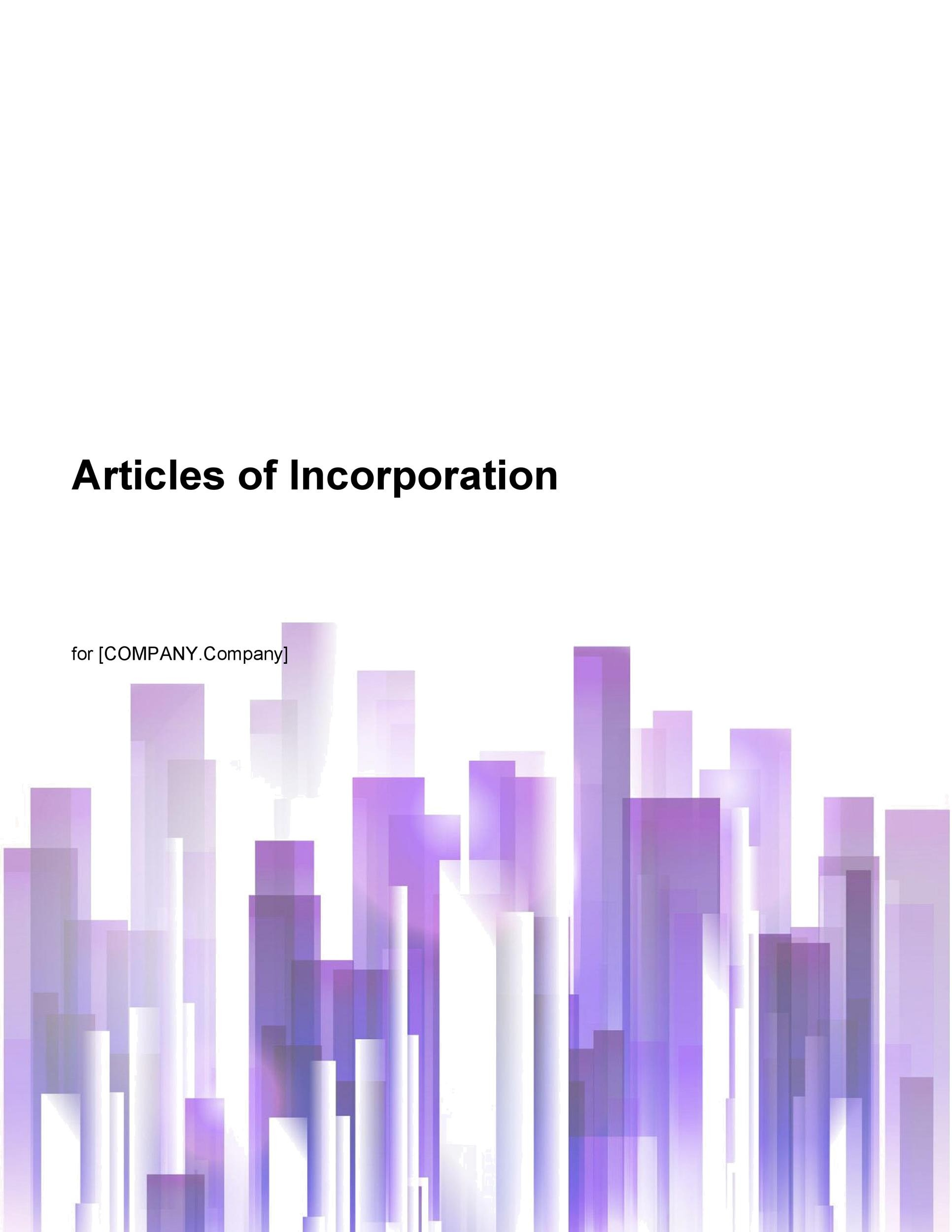 Free articles of incorporation template 41