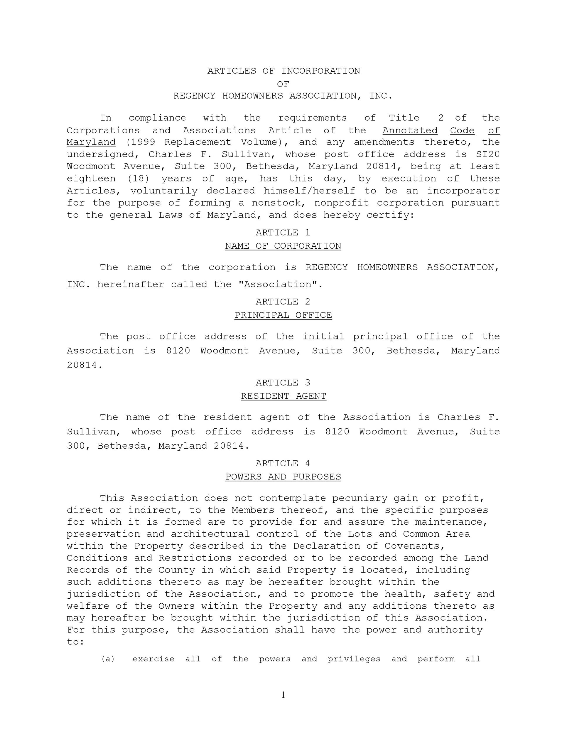 Free articles of incorporation template 44