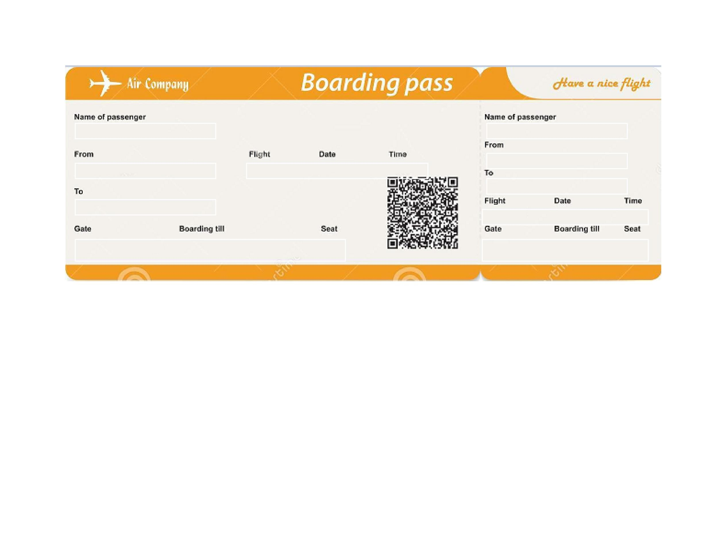 Printable Boarding Pass Template 01  Printable Fake Airline Tickets