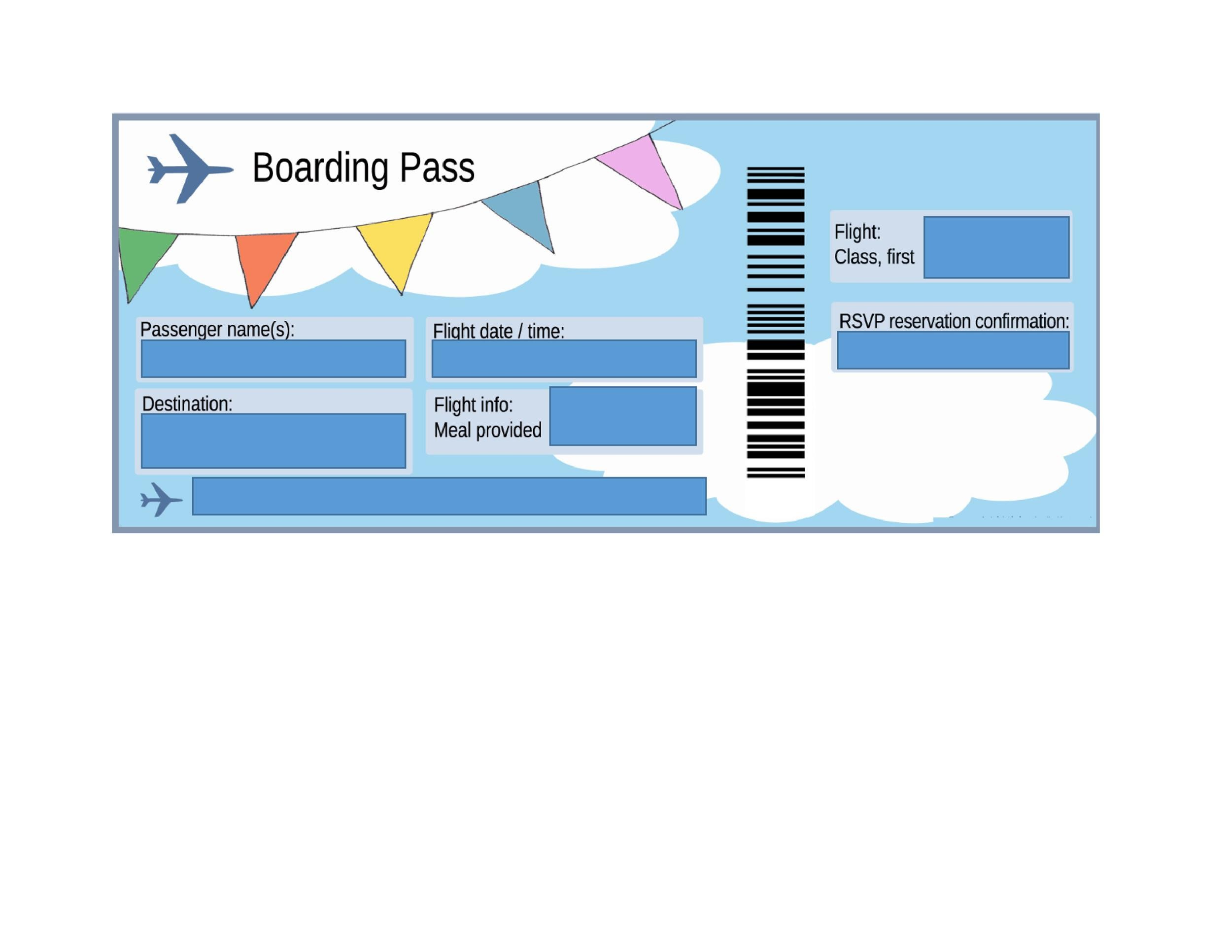 Free boarding pass template 02