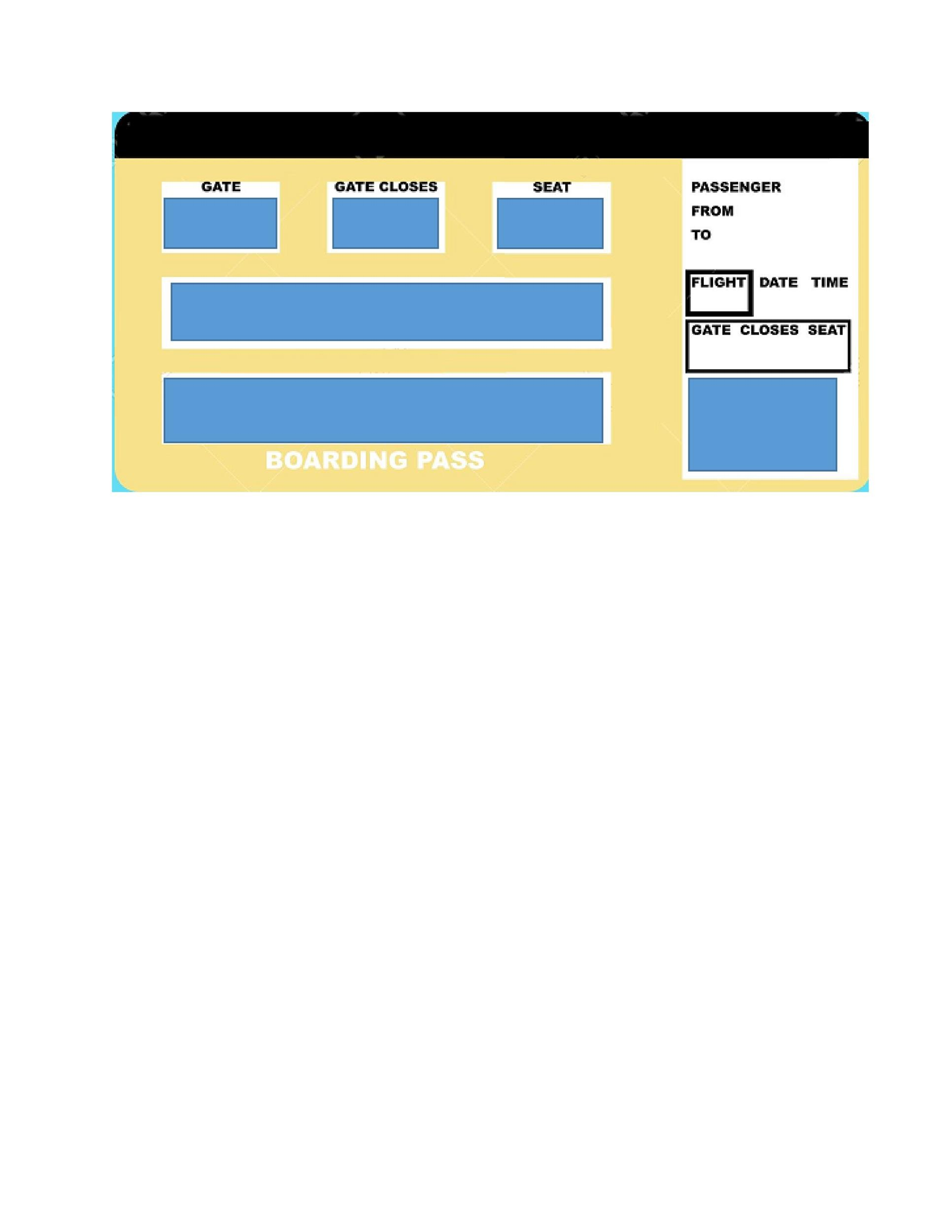 Free boarding pass template 03