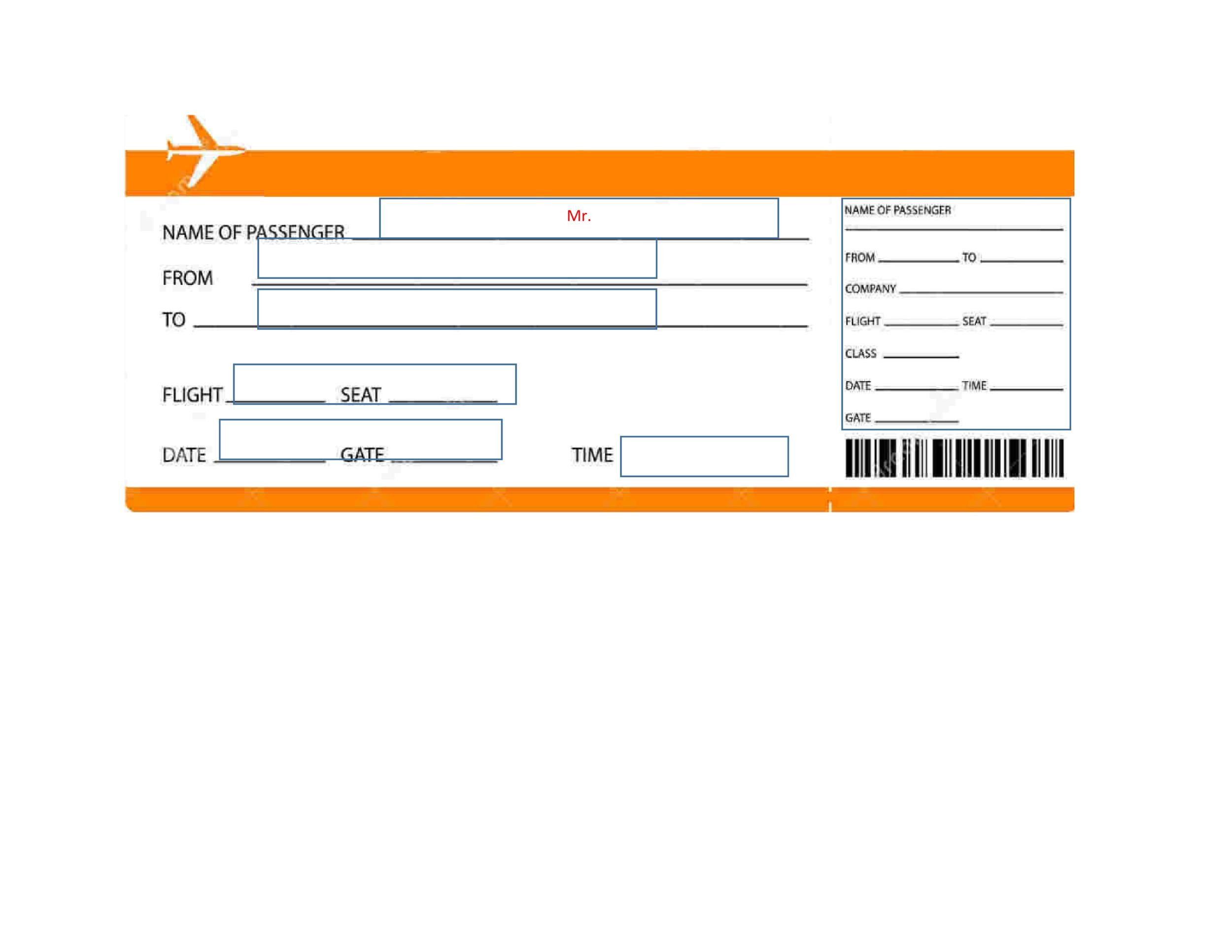Free Boarding Pass Template 04