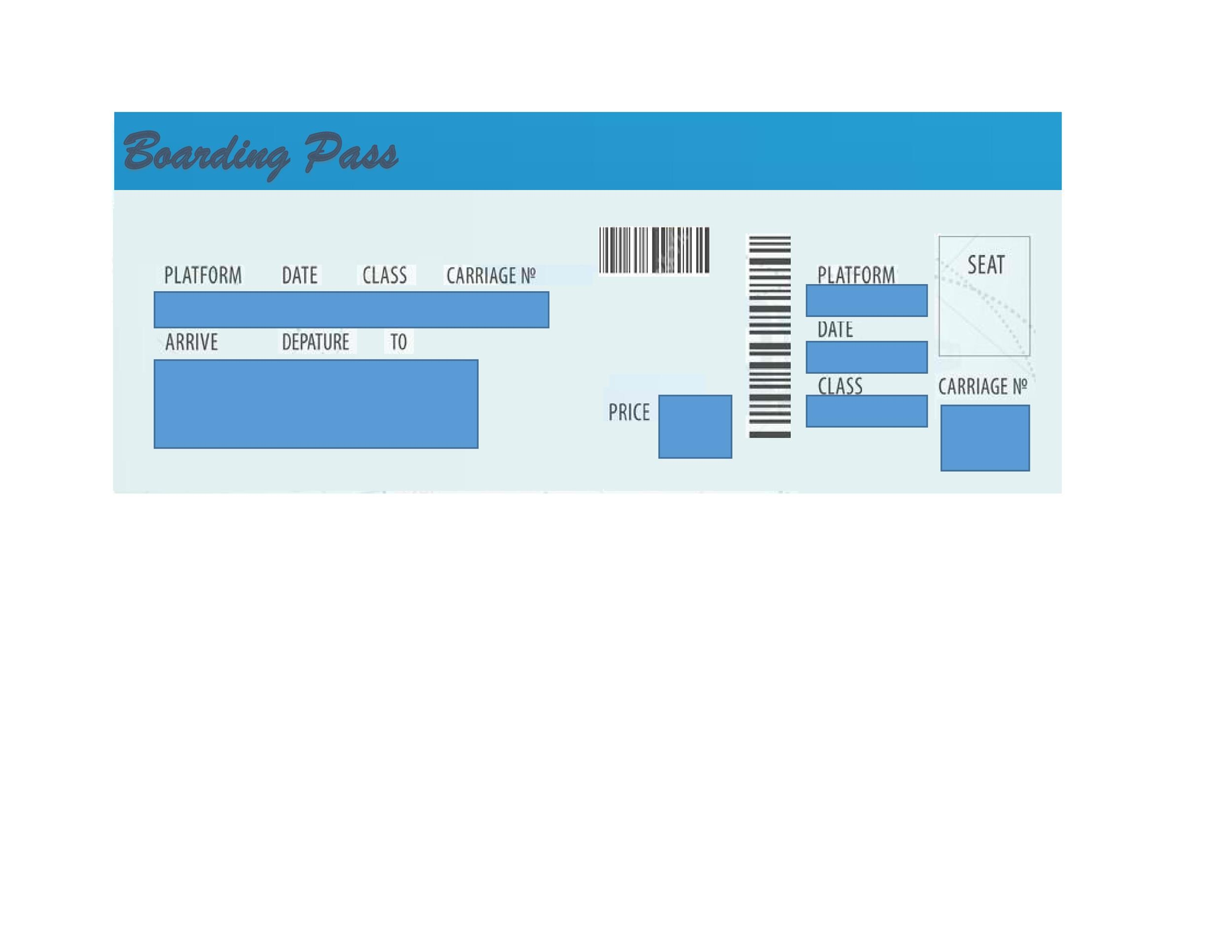 Free boarding pass template 05