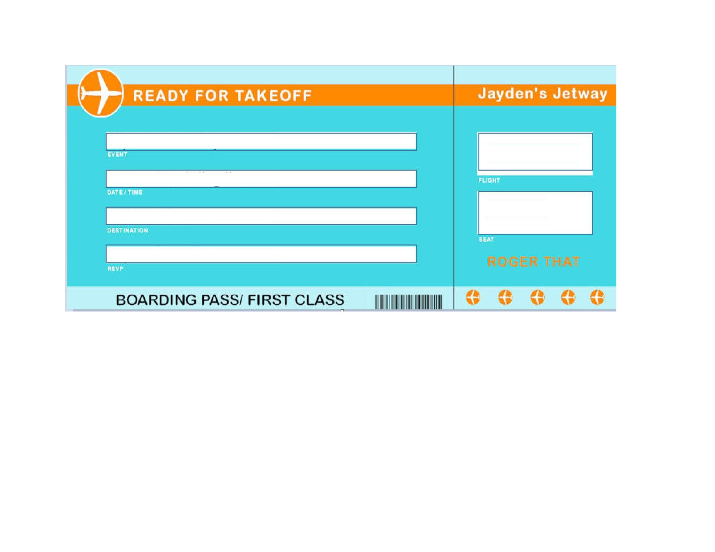Free boarding pass template 06
