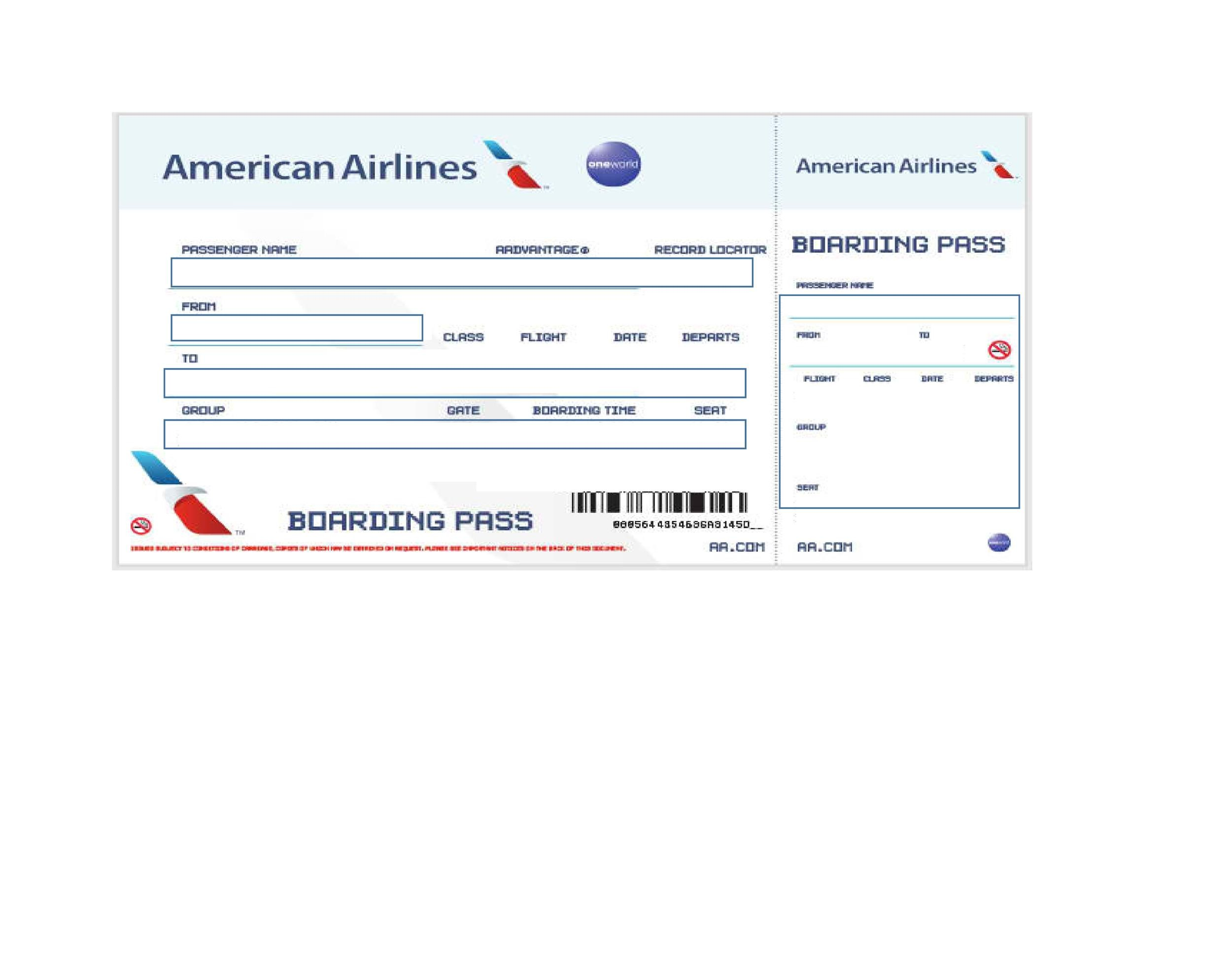 Boarding pass template for kids for Boarding pass sleeve template