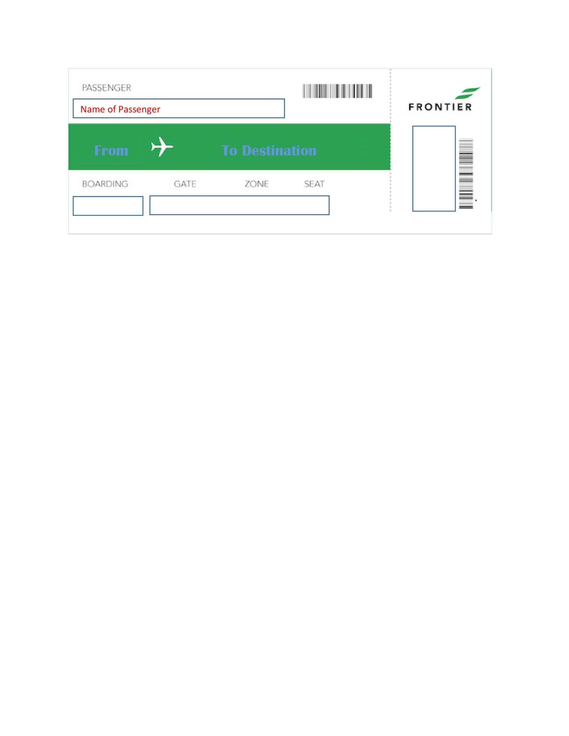 Free boarding pass template 09