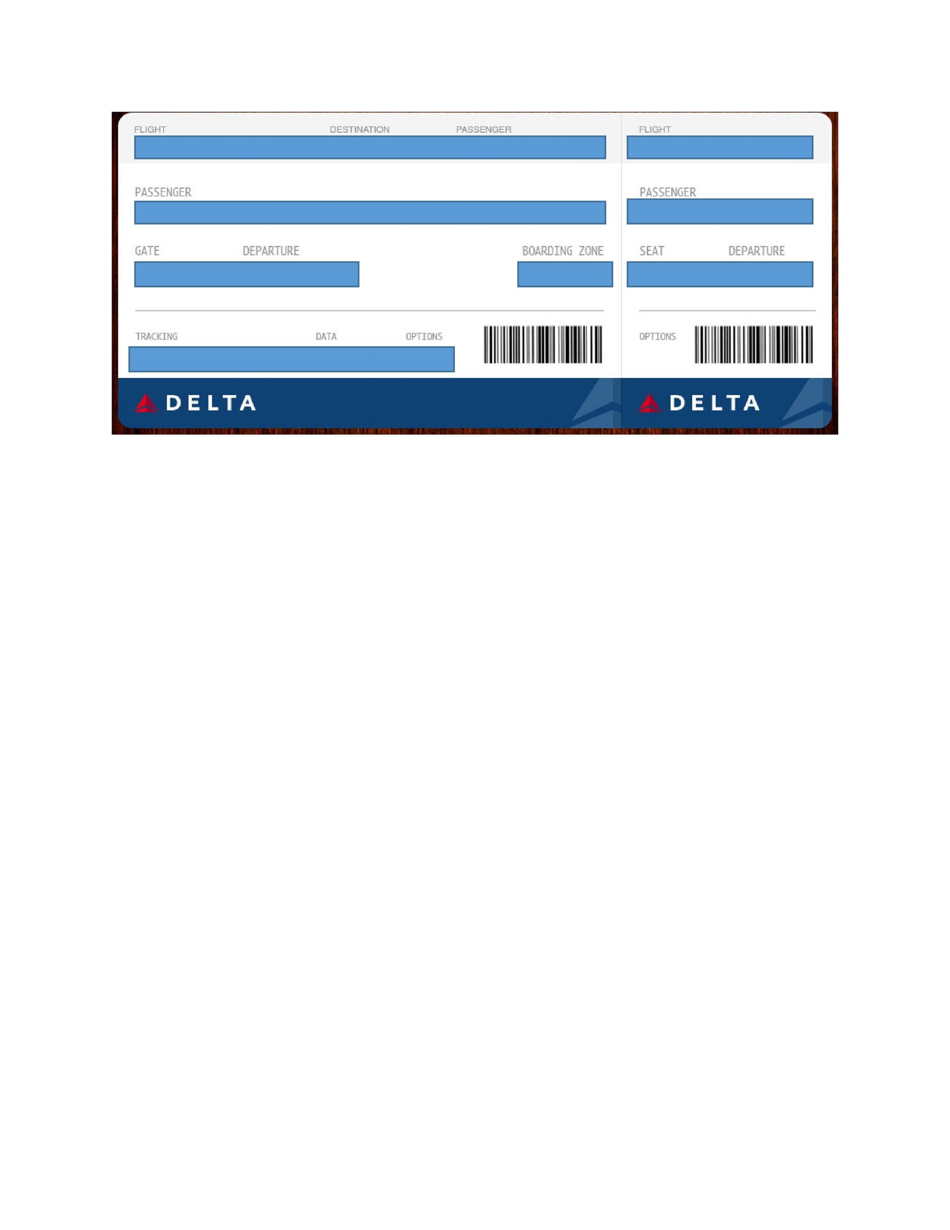 Free boarding pass template 10