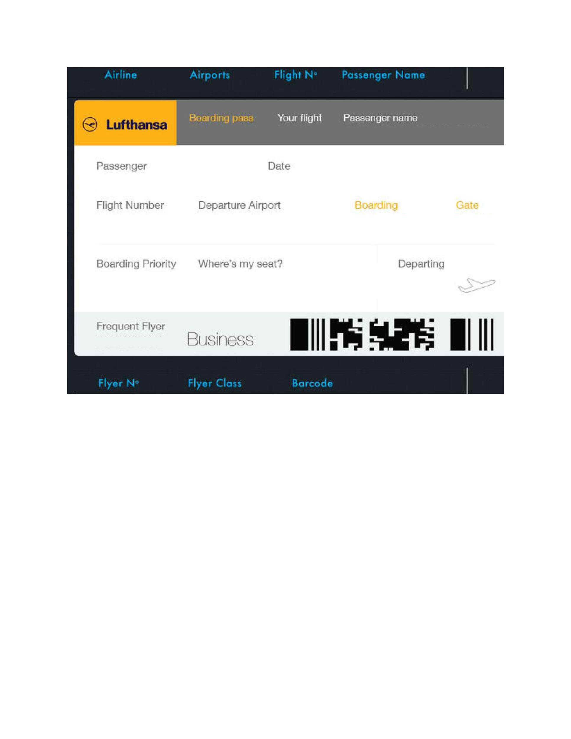 Free boarding pass template 11