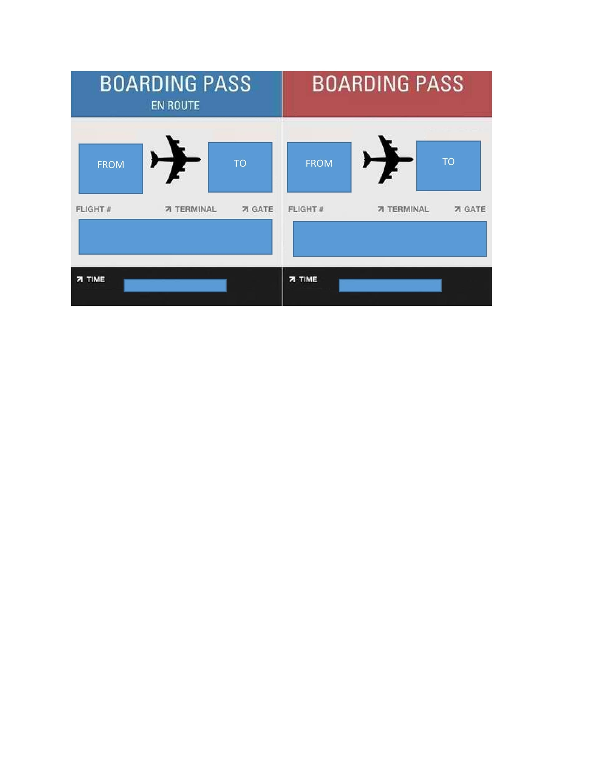 Free boarding pass template 13