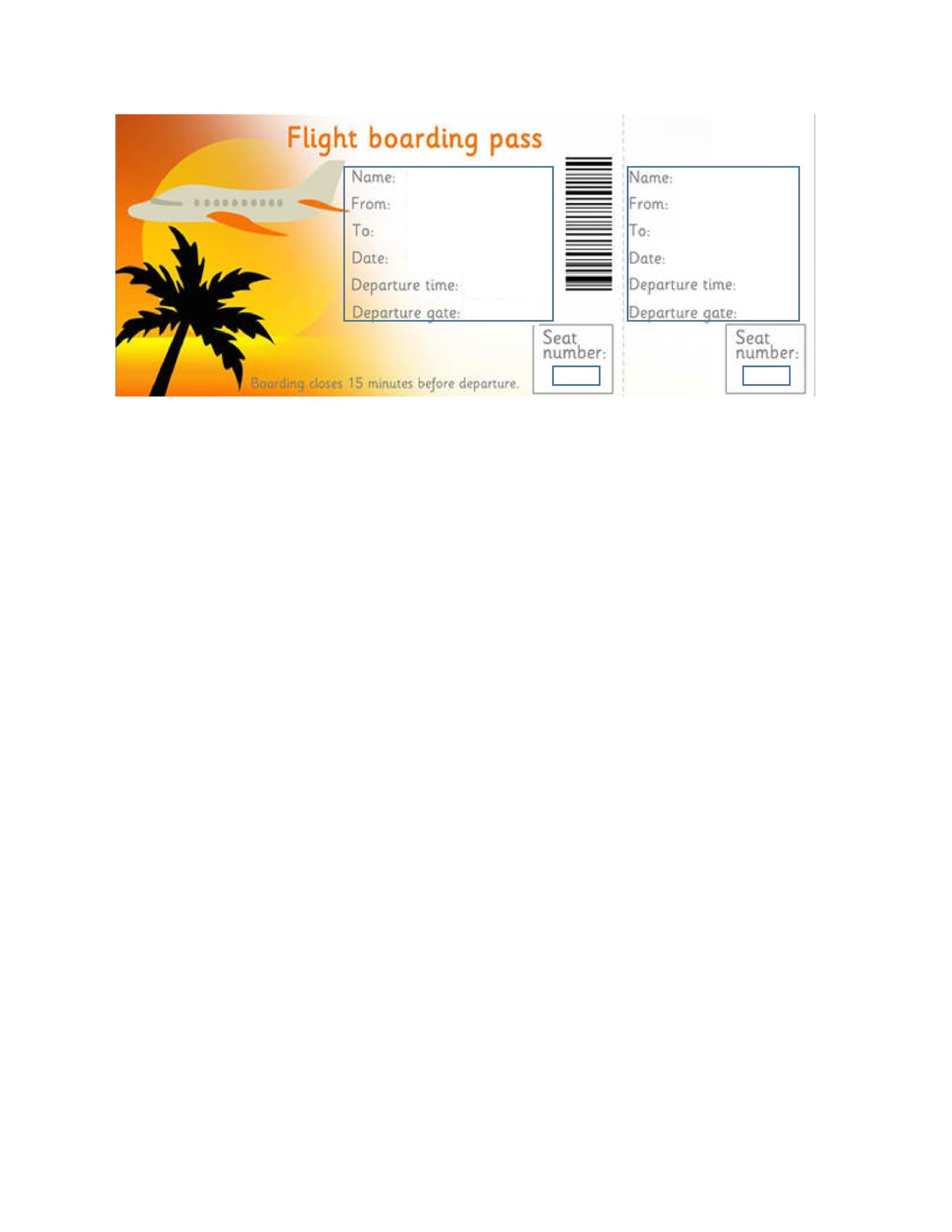 Free boarding pass template 14