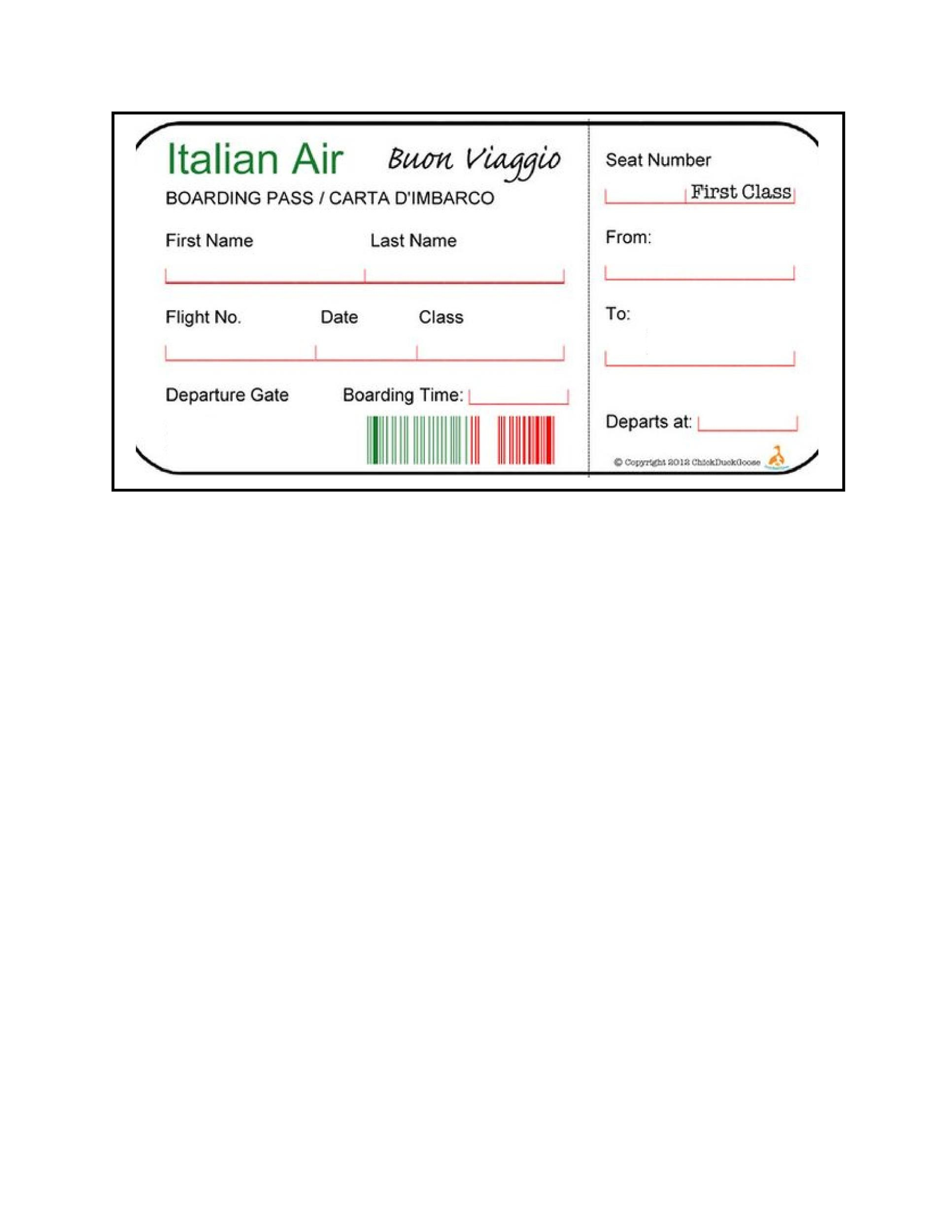 Free boarding pass template 15