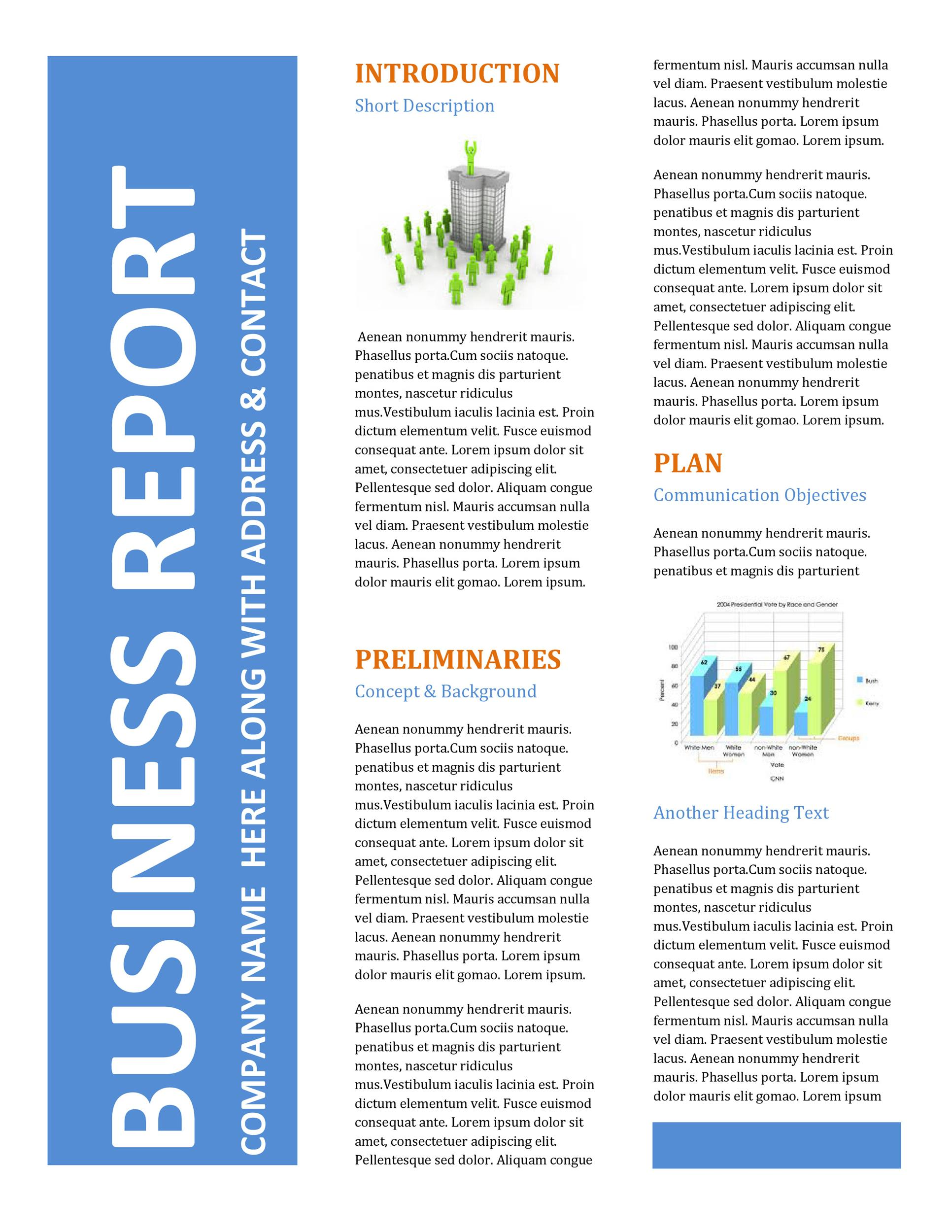 Free business report template 04
