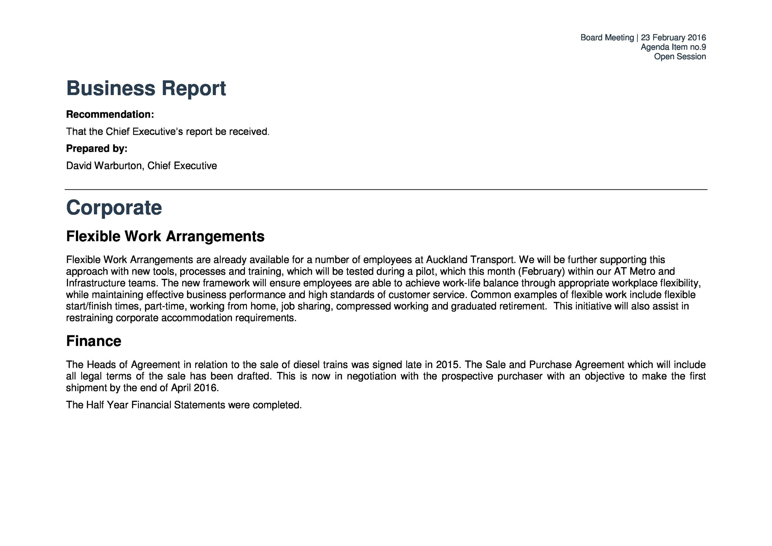 Business Report Templates  Format Examples  Template Lab