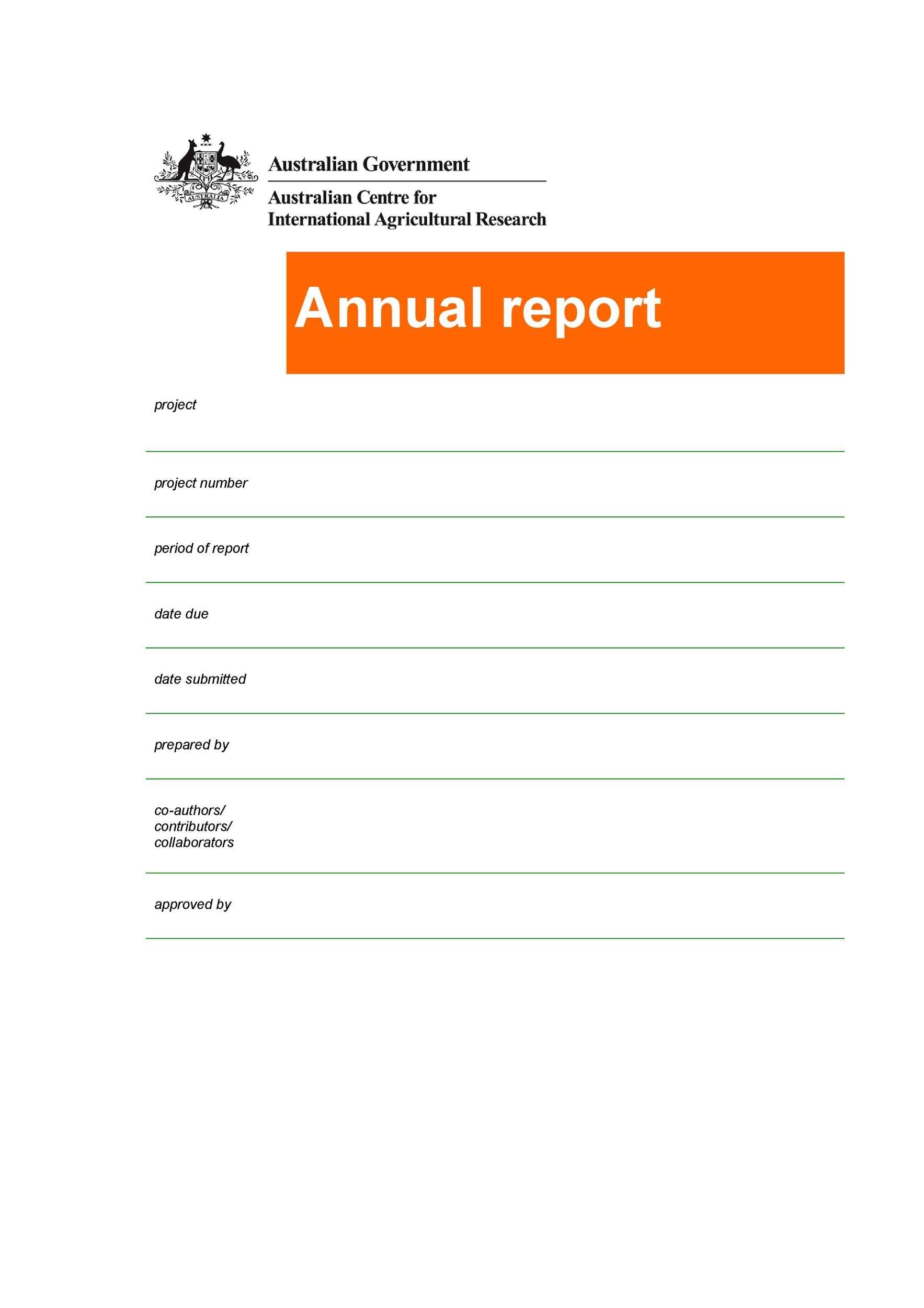 Free business report template 10