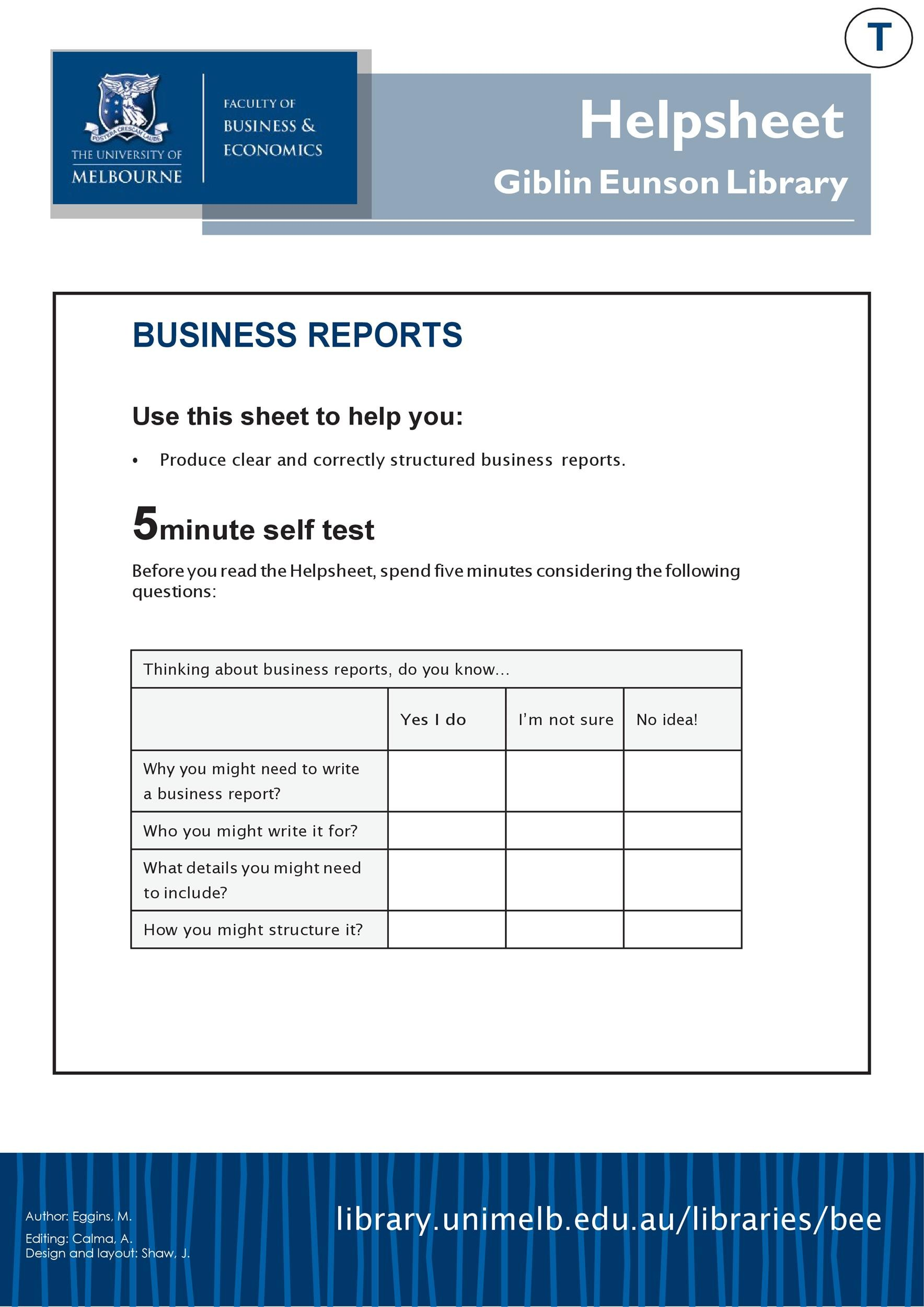 How to Format a Business Report