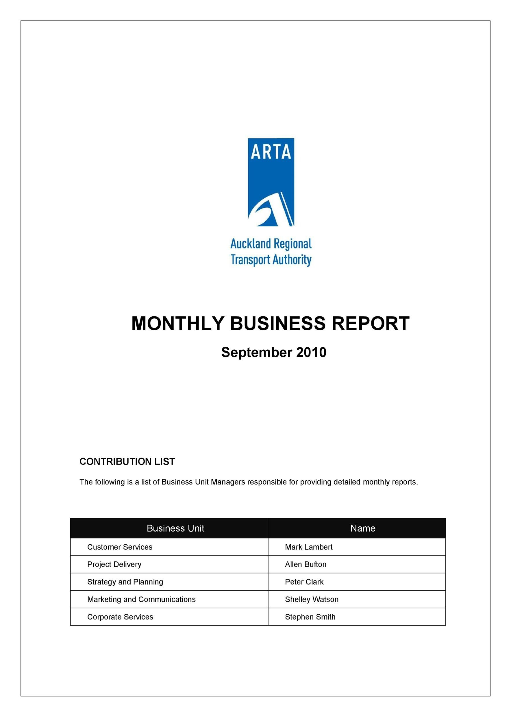 Free business report template 14