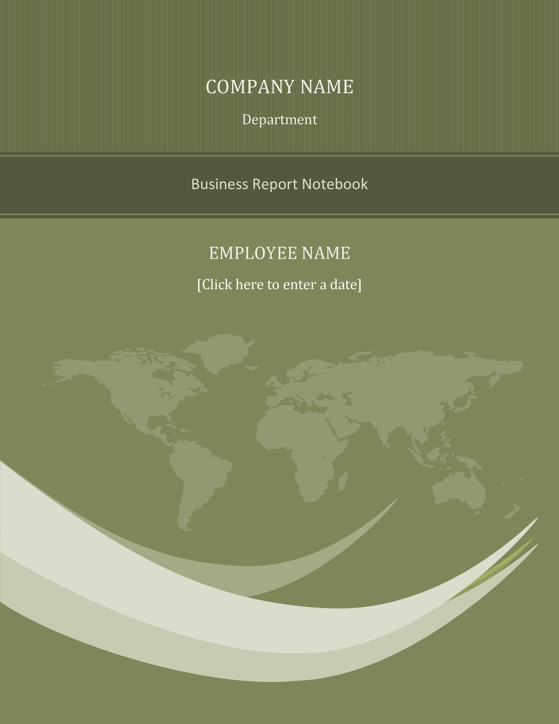 Free business report template 16
