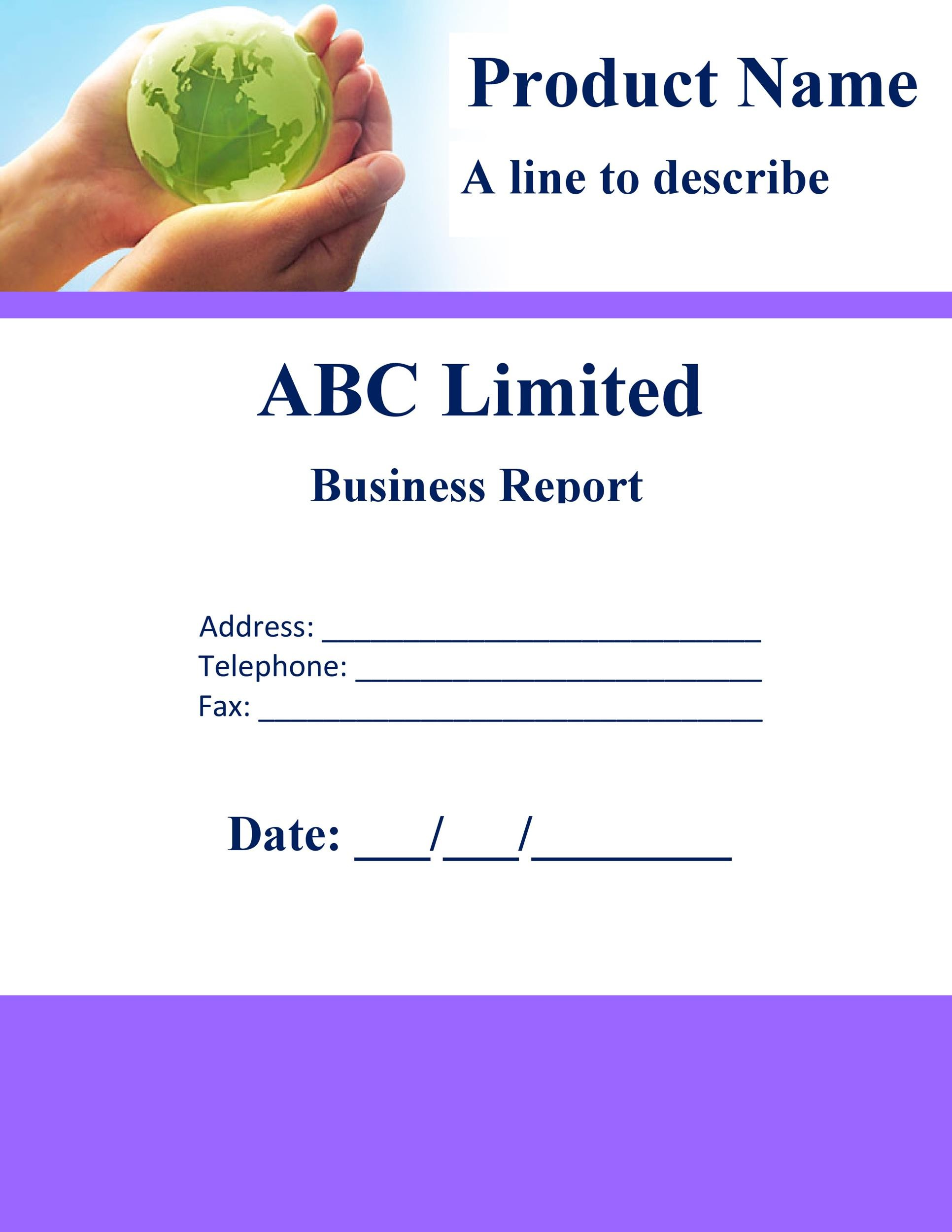Free business report template 25