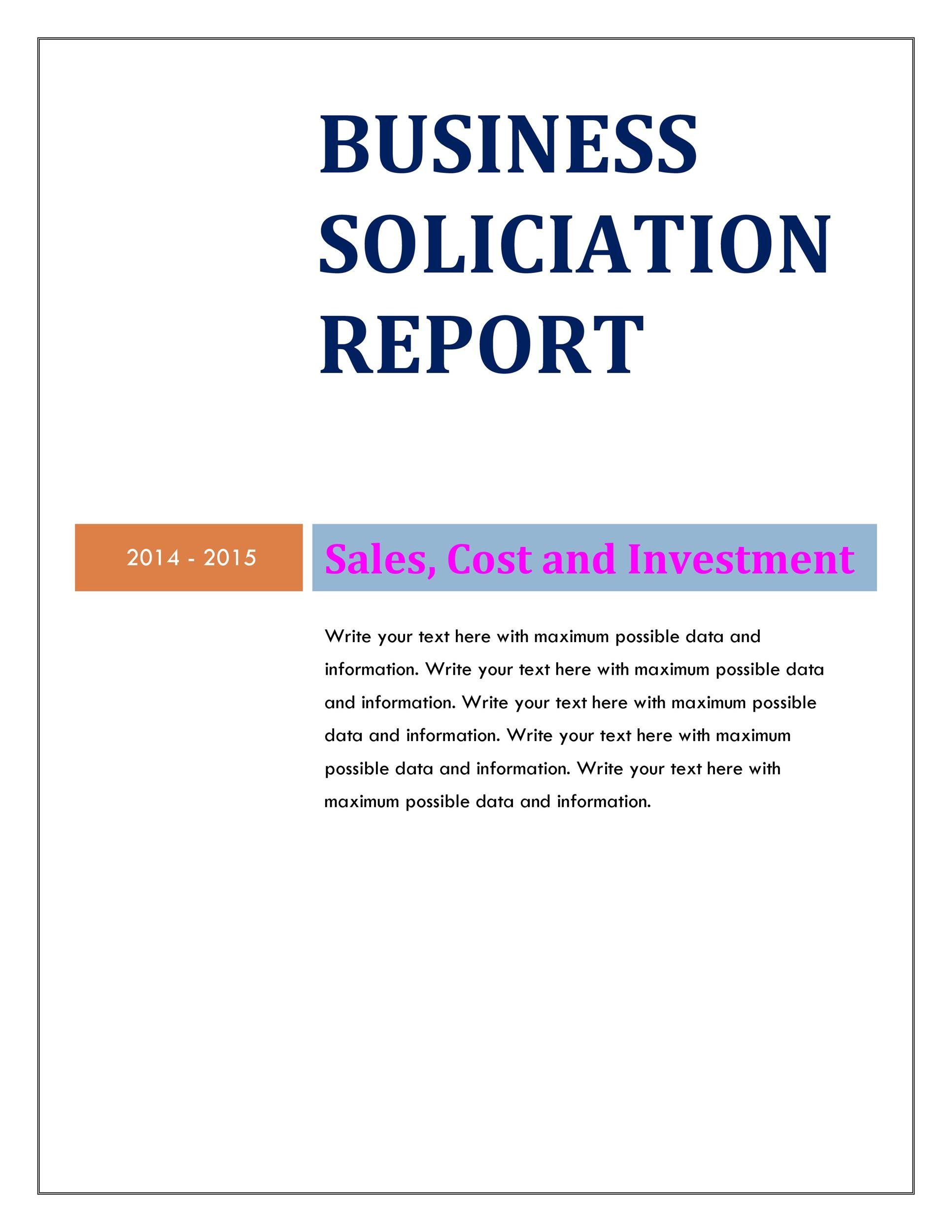 Free business report template 29
