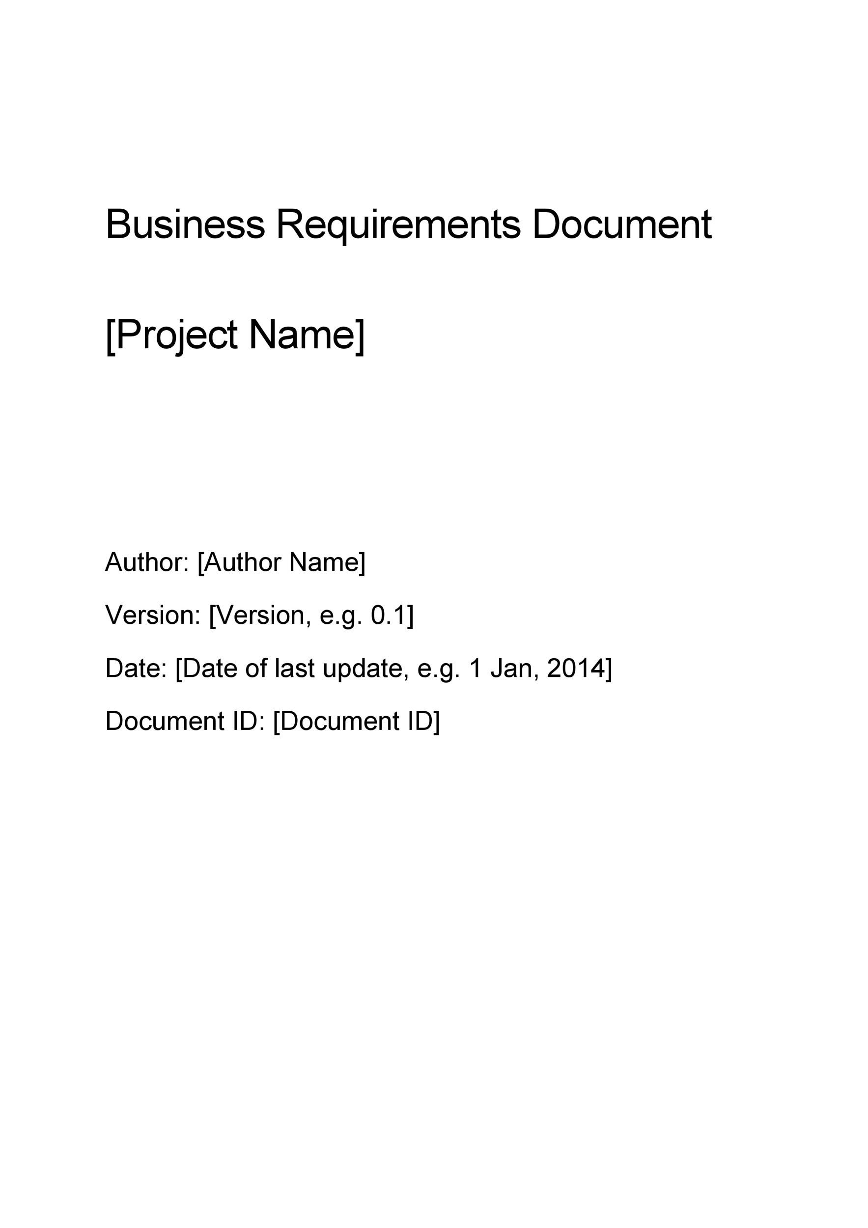 Simple Business Requirements Document Templates Template Lab - How to write business requirements document