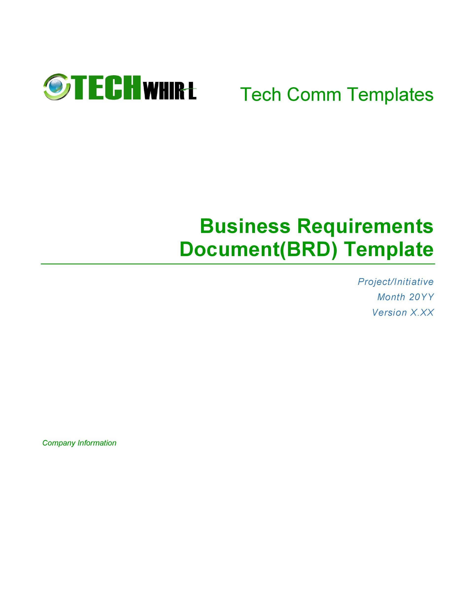 Free business requirements document template 07
