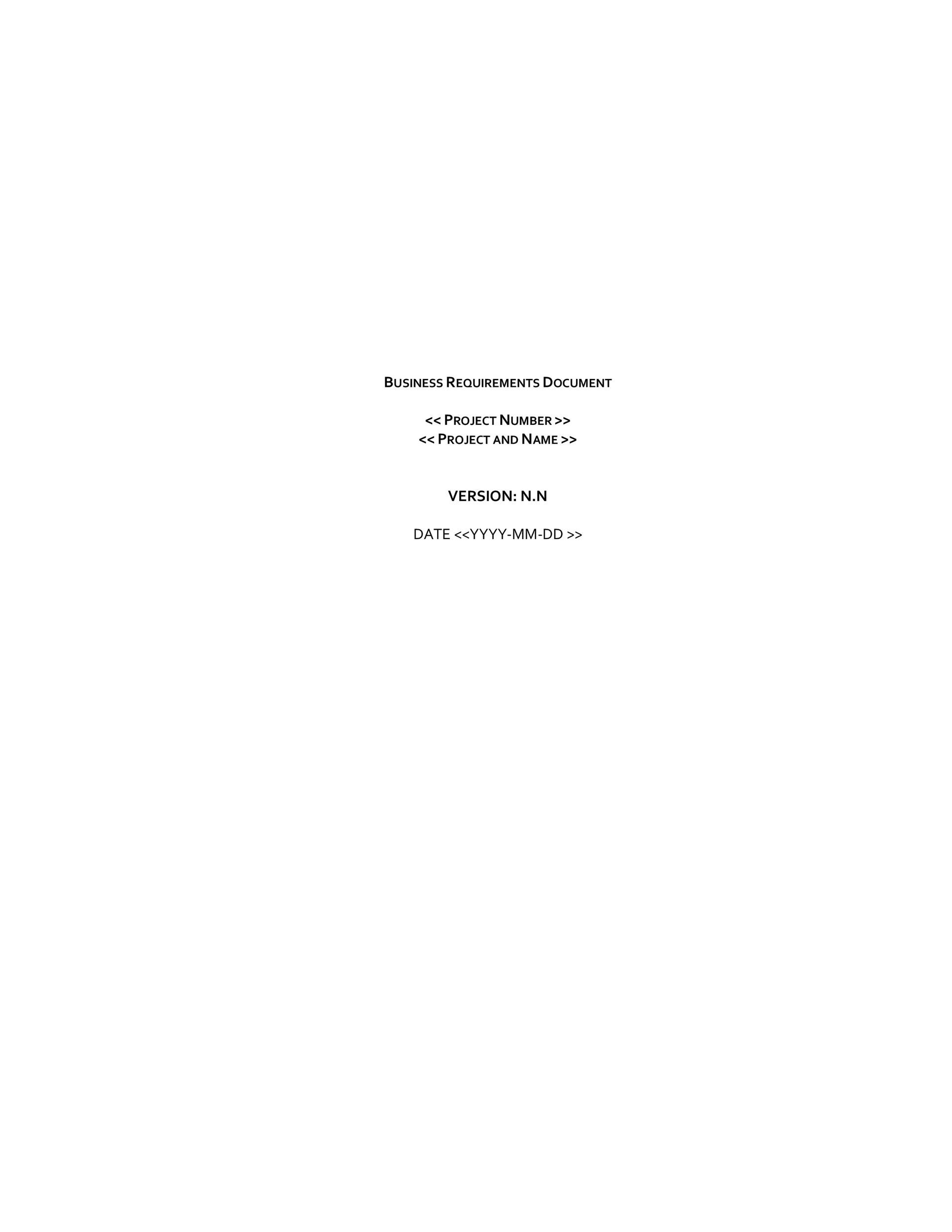 Free business requirements document template 08