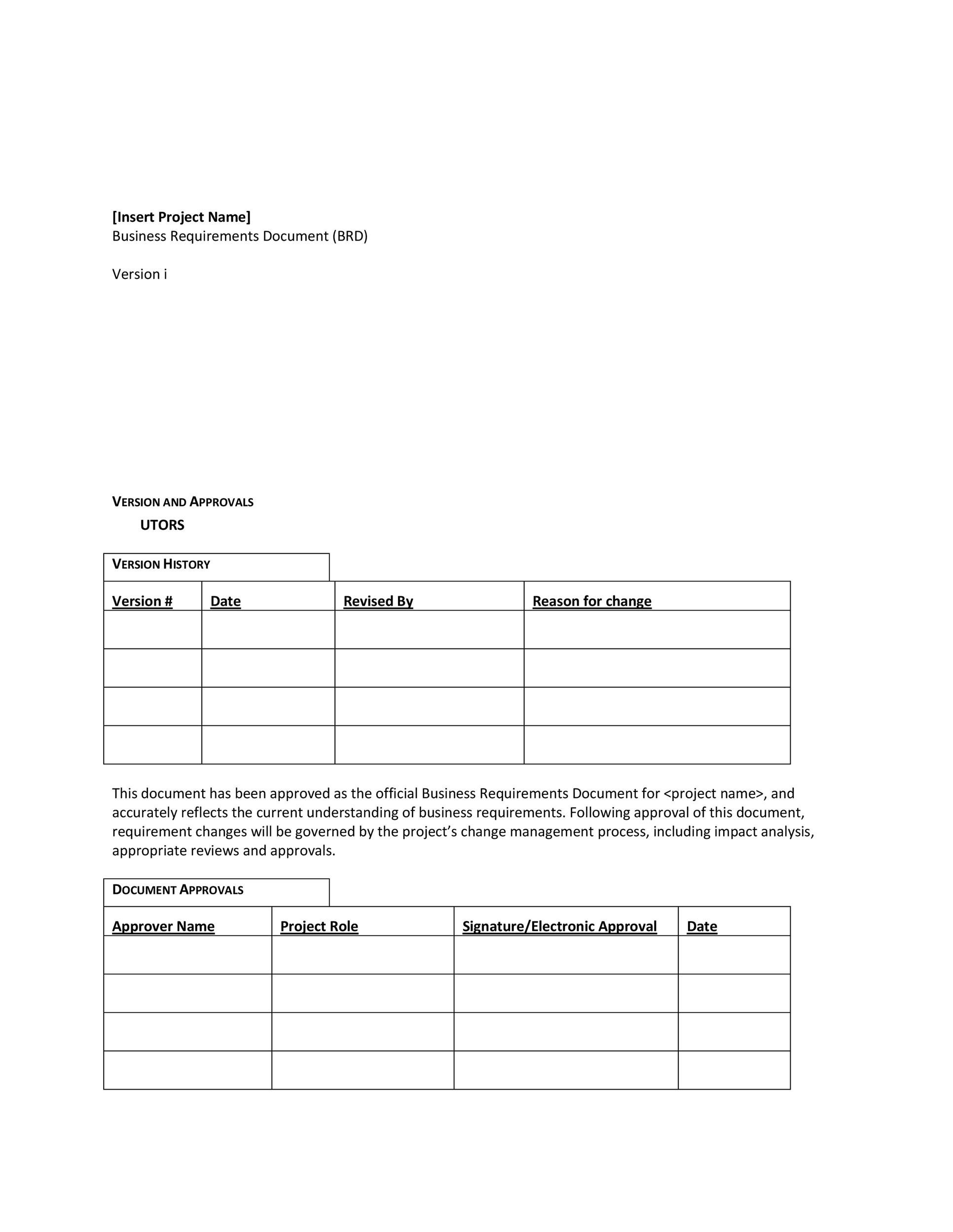 Free business requirements document template 09
