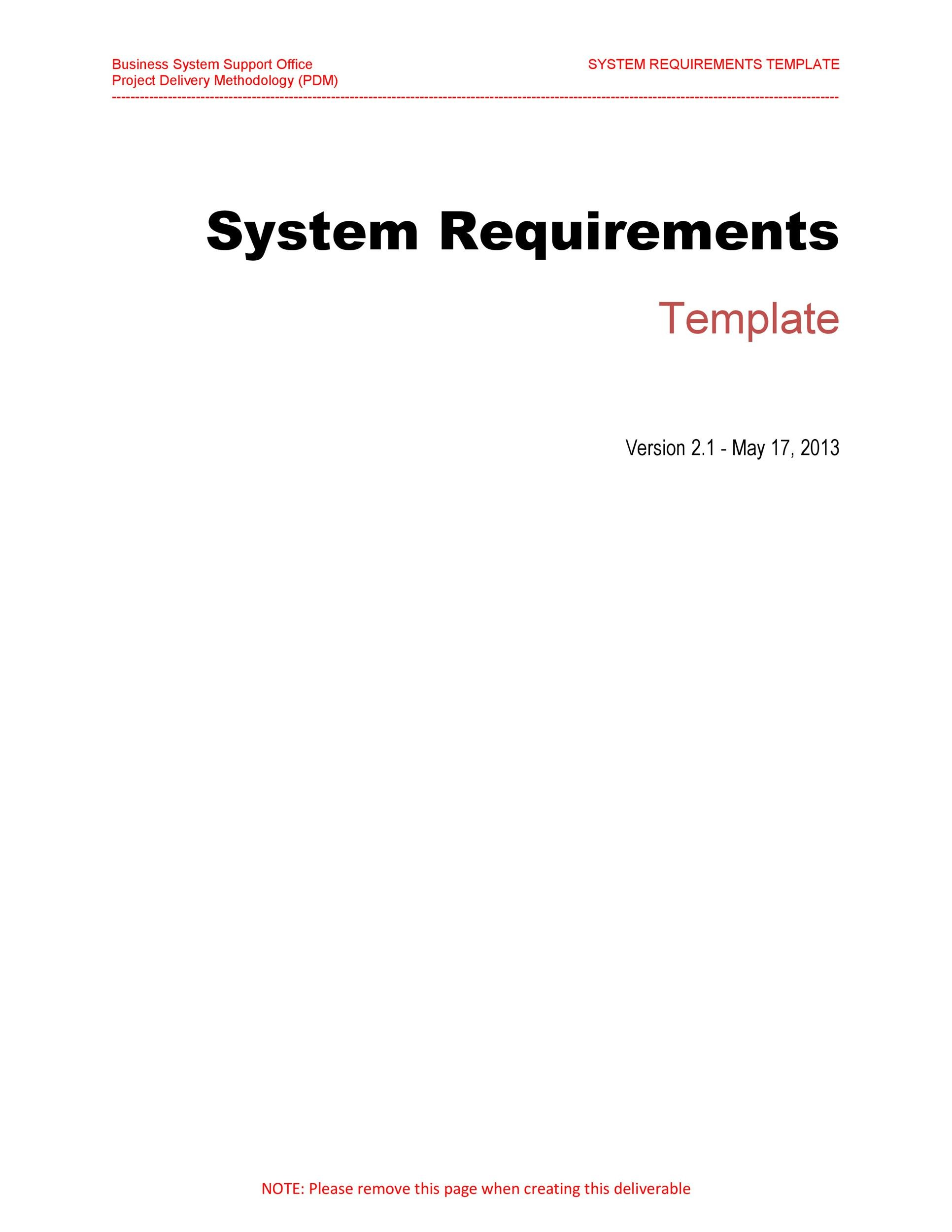Free business requirements document template 15