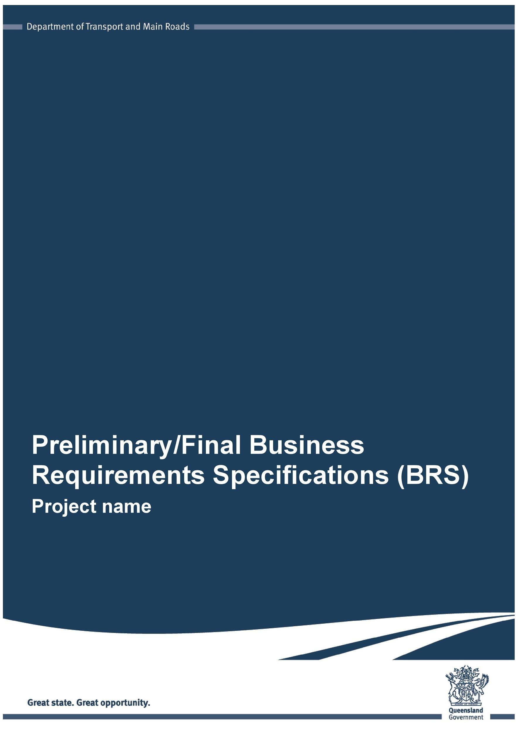 business report requirements template