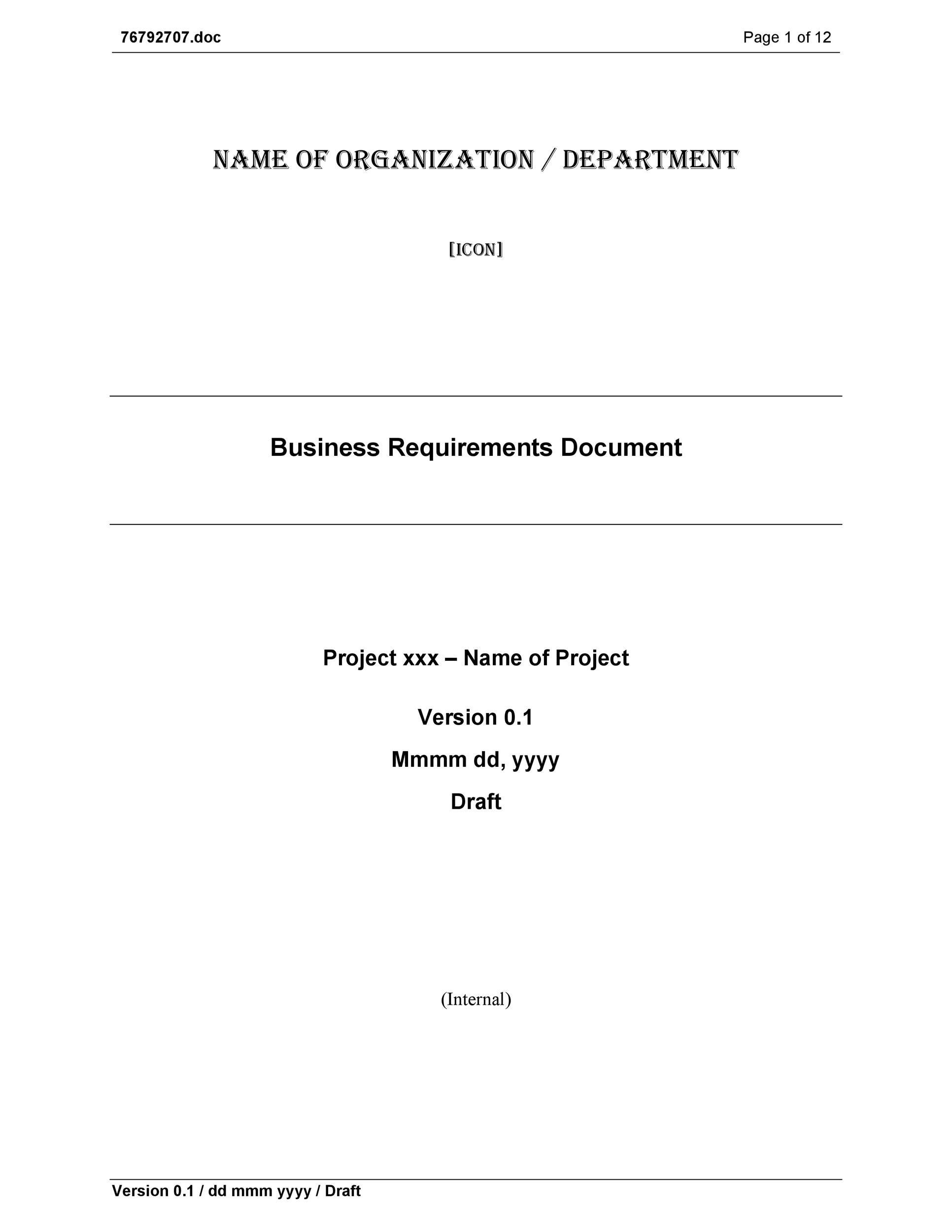 Printable Business Requirements Document Template 24