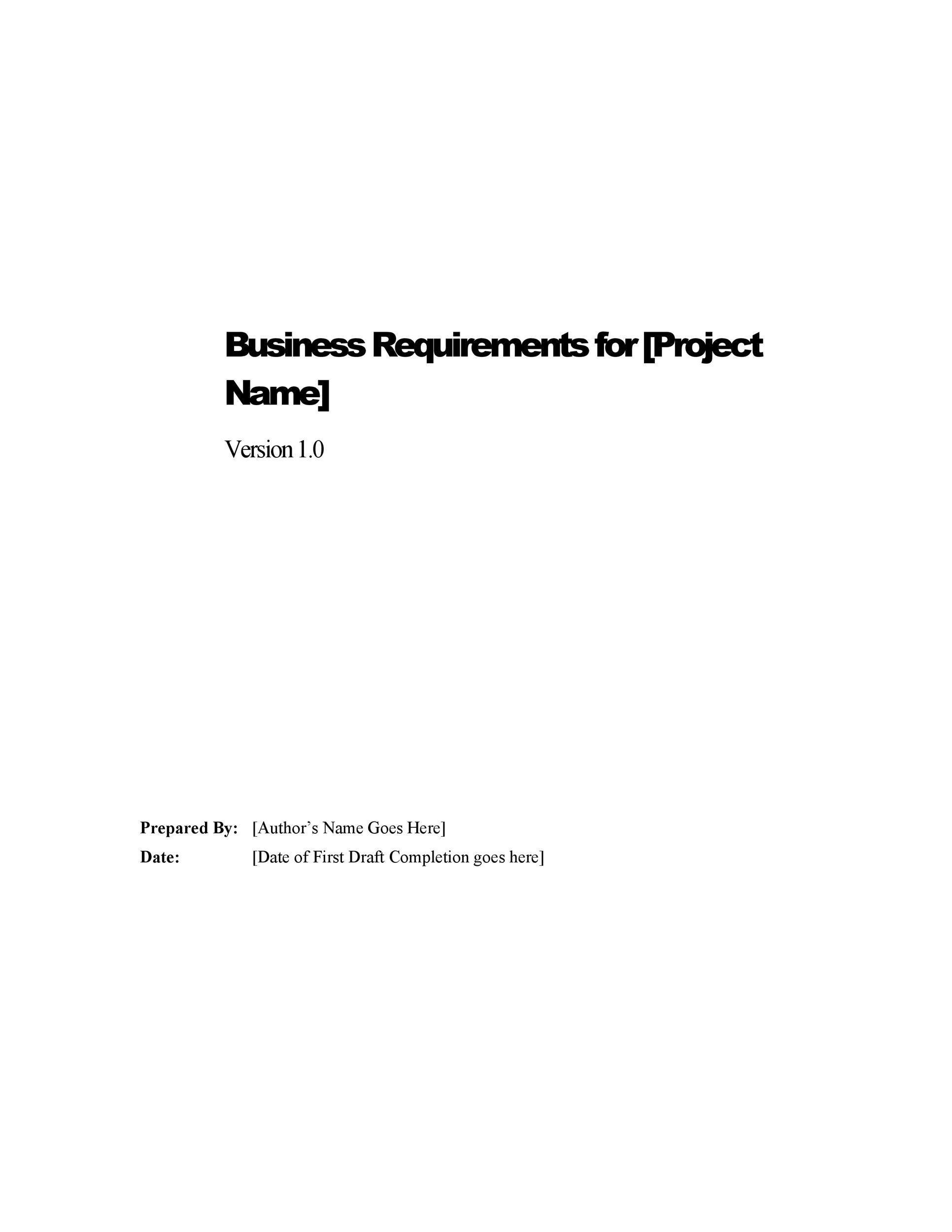 40 simple business requirements document templates template lab