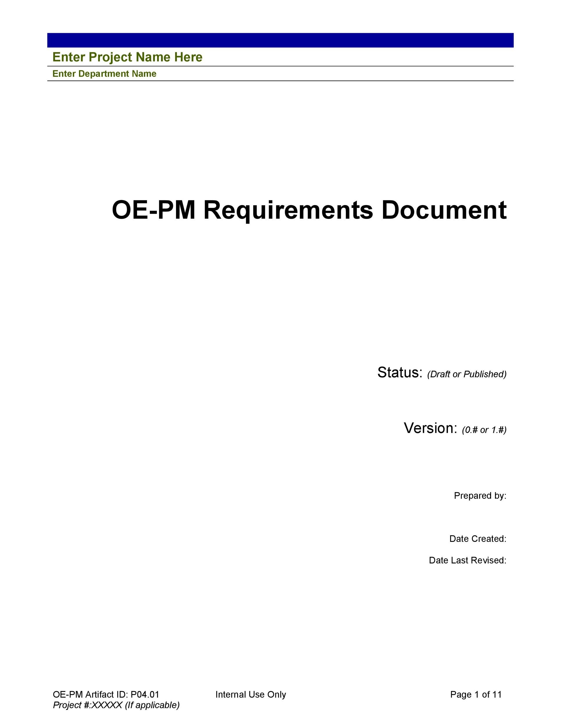Free business requirements document template 29