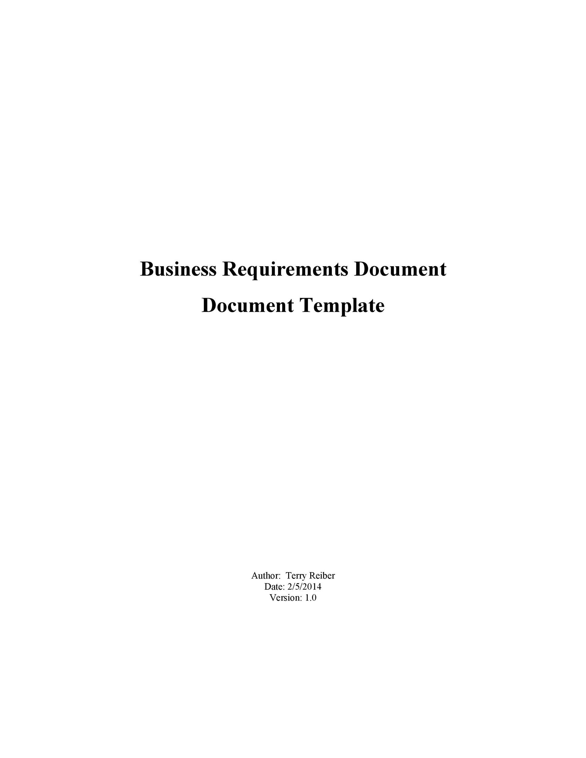Free business requirements document template 35