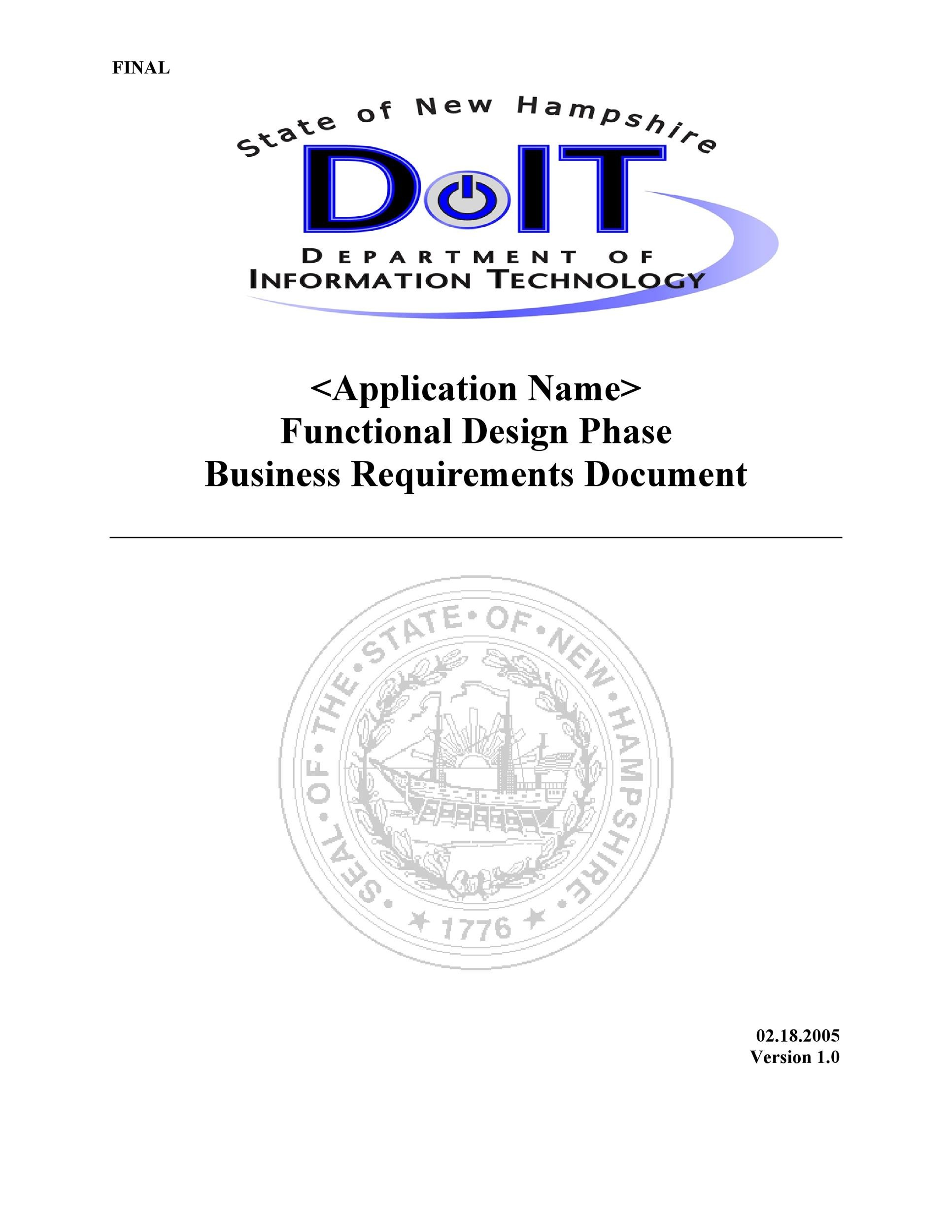 Free business requirements document template 38