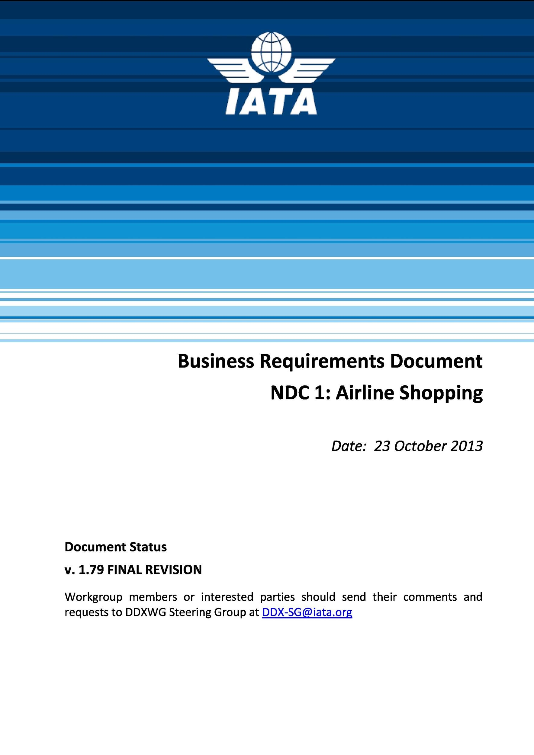 Printable Business Requirements Document Template 40